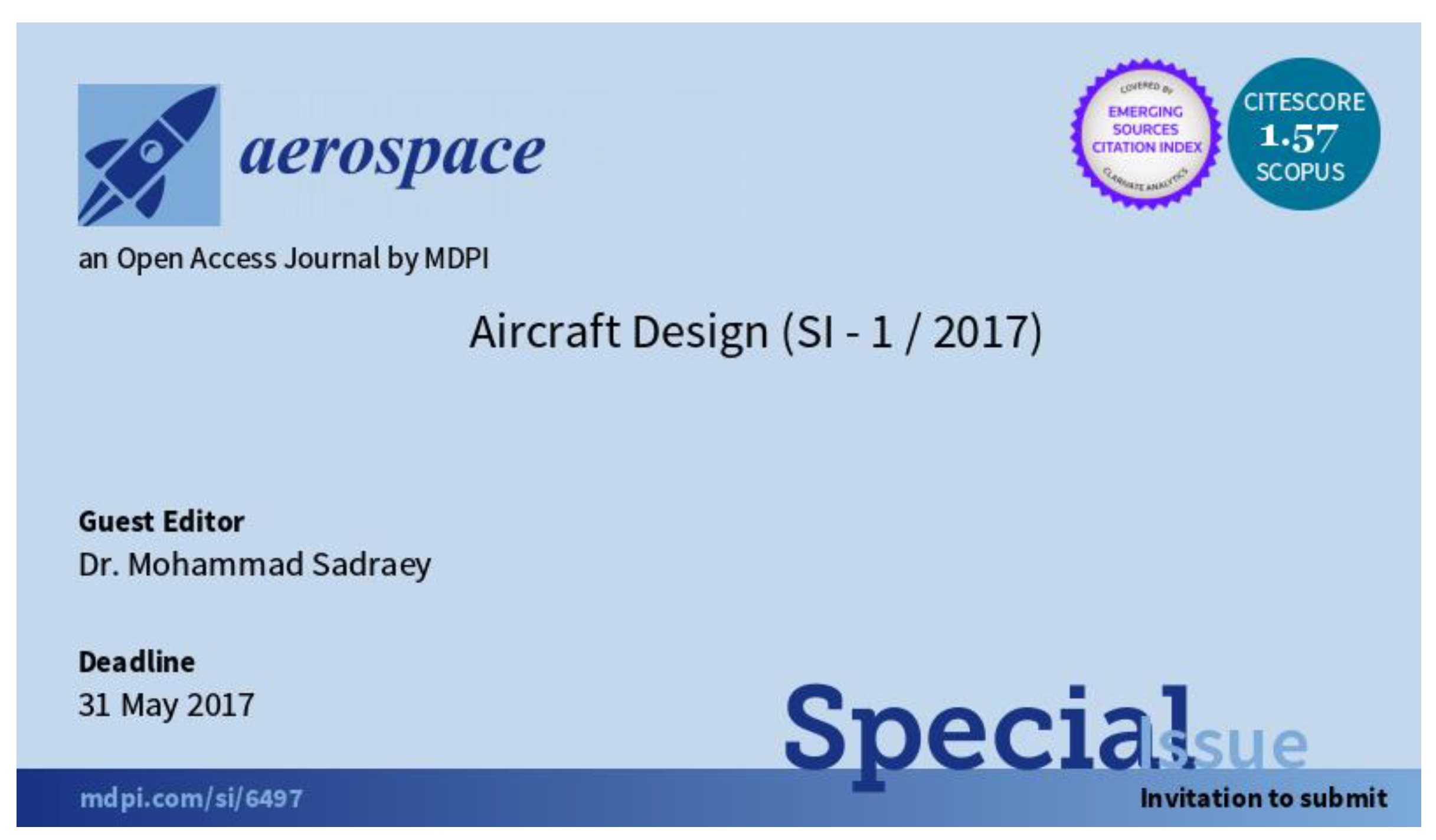 Aerospace Free Full Text Publishing In Aircraft Design With A Continuous Open Access Special Issue Html