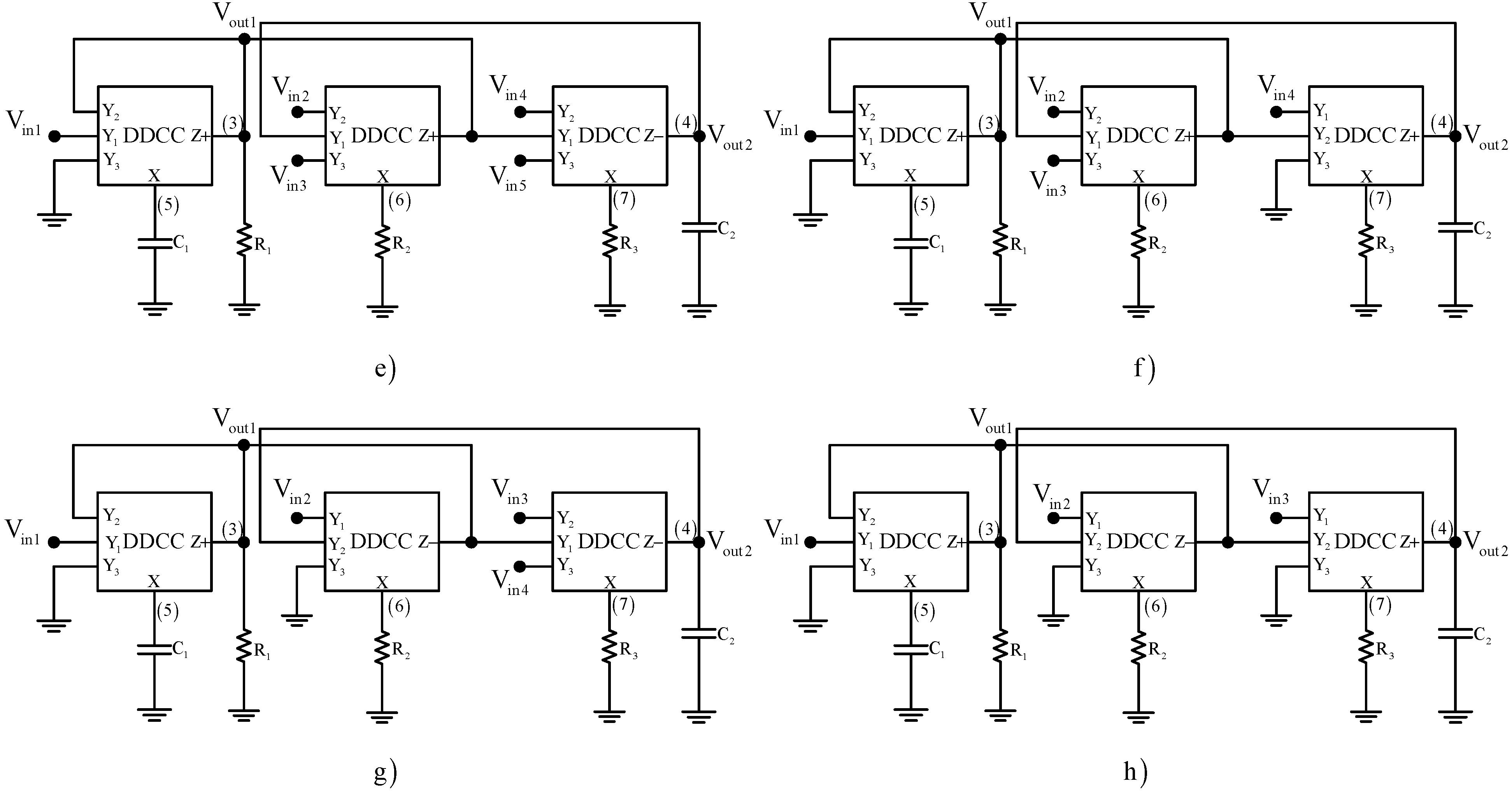 Applied Sciences Free Full Text Synthesis Of Cascadable Ddcc Type Filter Circuit No