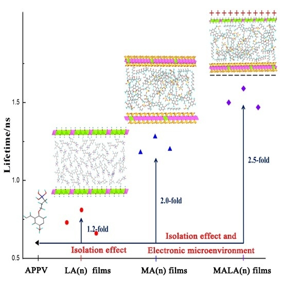 Novel Luminescent Multilayer Films Containing π-Conjugated Anionic Polymer with Electronic Microenvironment