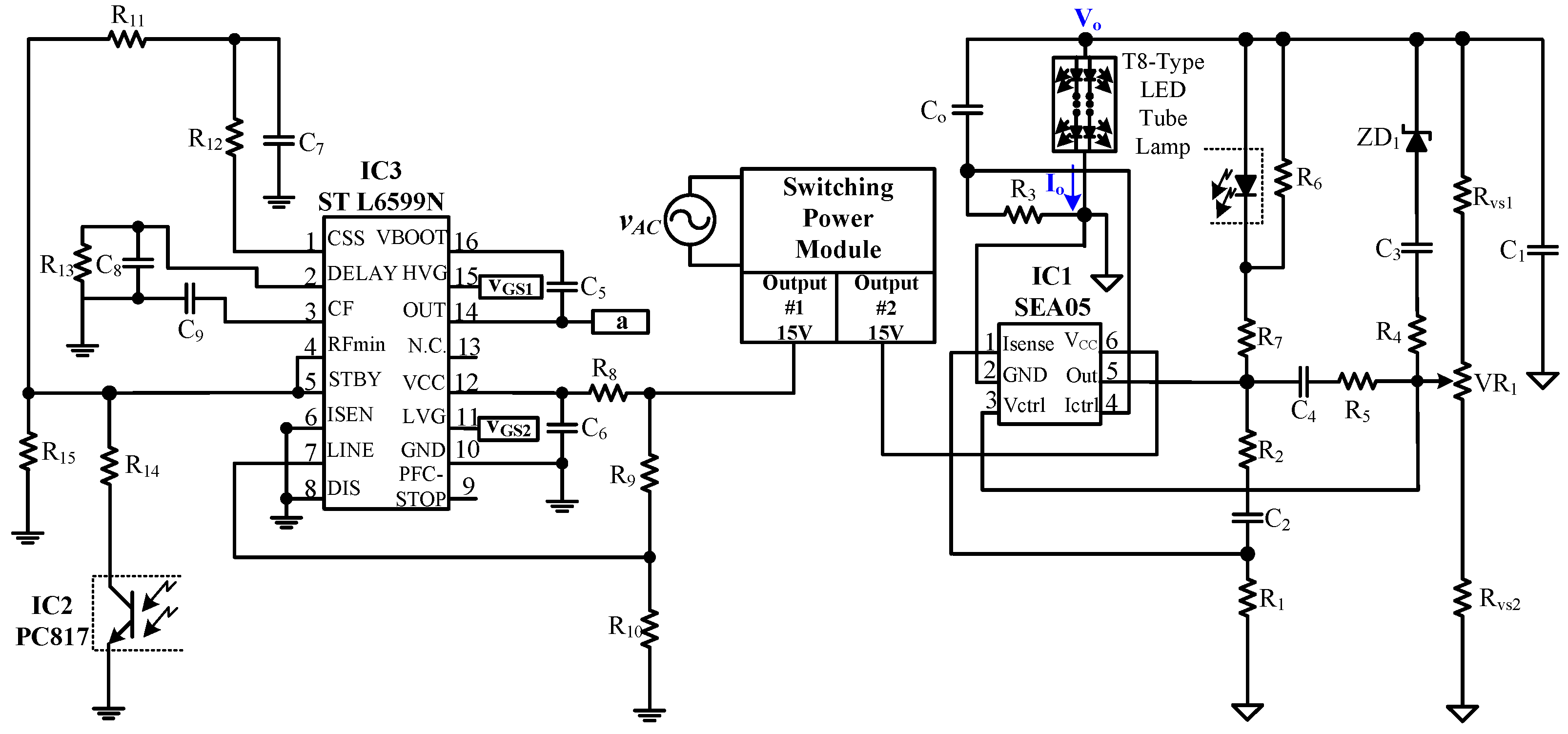 Applied Sciences Free Full Text A Single Stage Led Tube Lamp Switch Wiring Diagram Hsh As Well 6 Pin Toggle Applsci 07 00115 G005