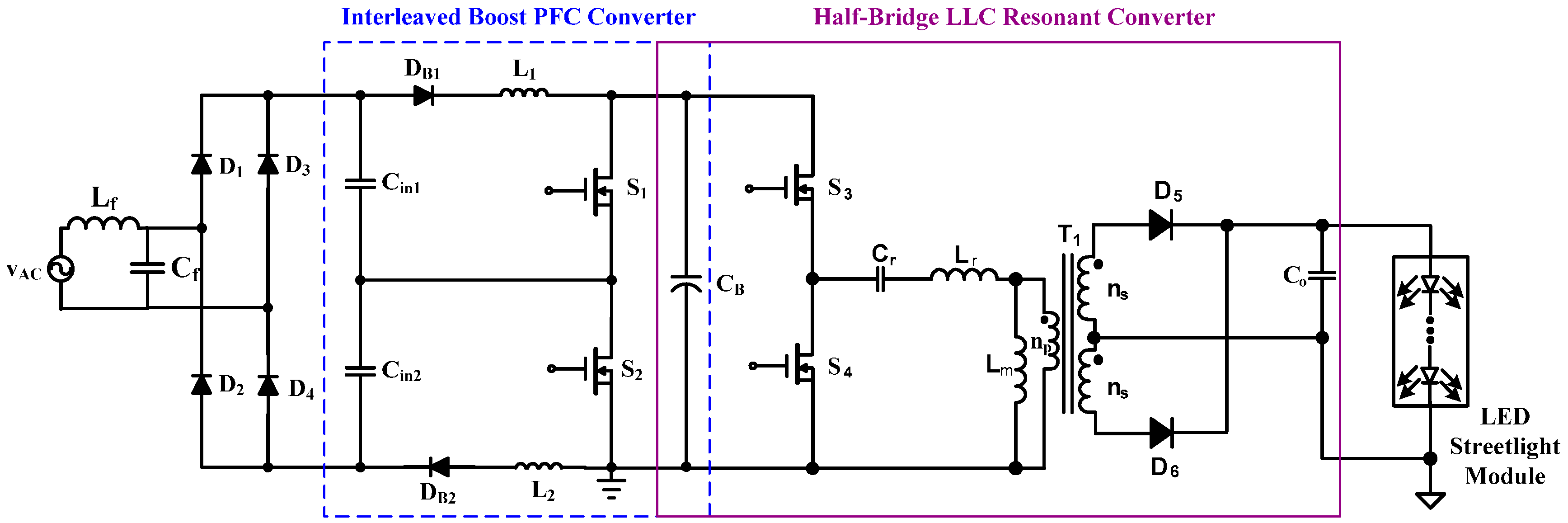 Applied Sciences Free Full Text A Single Stage High Power Factor Led Tube Light Circuit Diagram Street No