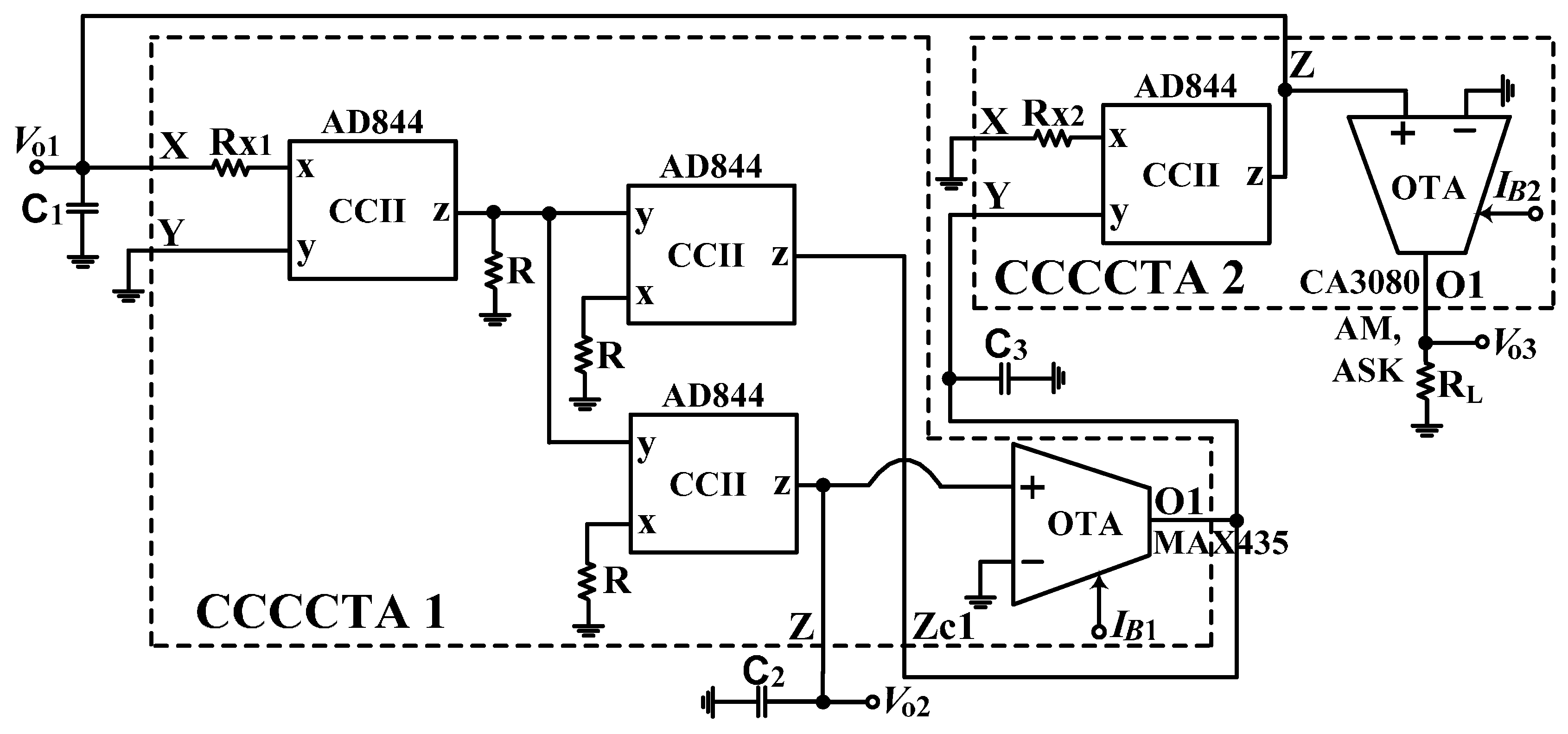 Applied Sciences Free Full Text Voltage Mode And Current Circuit Diagram Oscillatorcircuit Signalprocessing Applsci 07 00179 G012