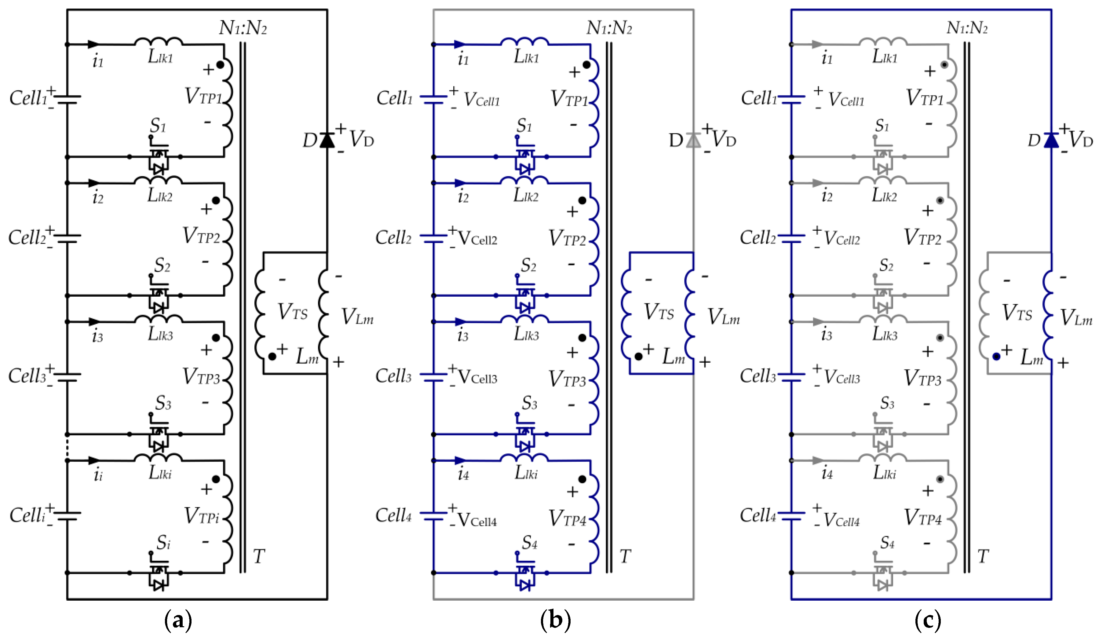 Applied Sciences Free Full Text A Modular Cell Balancer Based On Circuit Diagram Of Multi Switch Controlled No