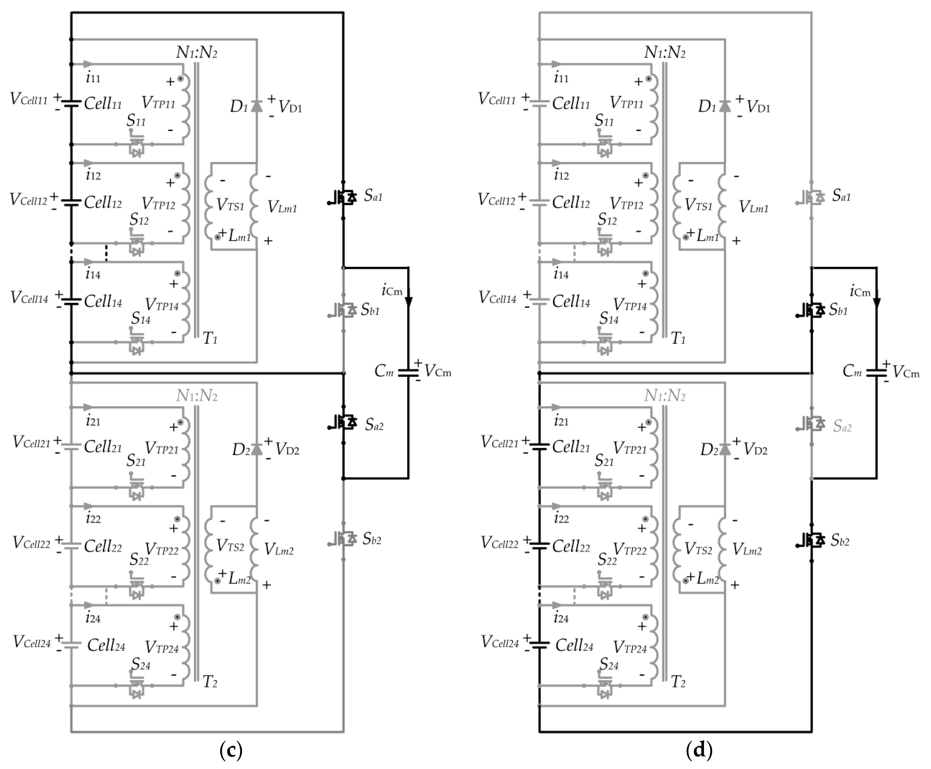 Applied Sciences Free Full Text A Modular Cell Balancer Based On Figure 2 Transformercircuit Diagram Figures No