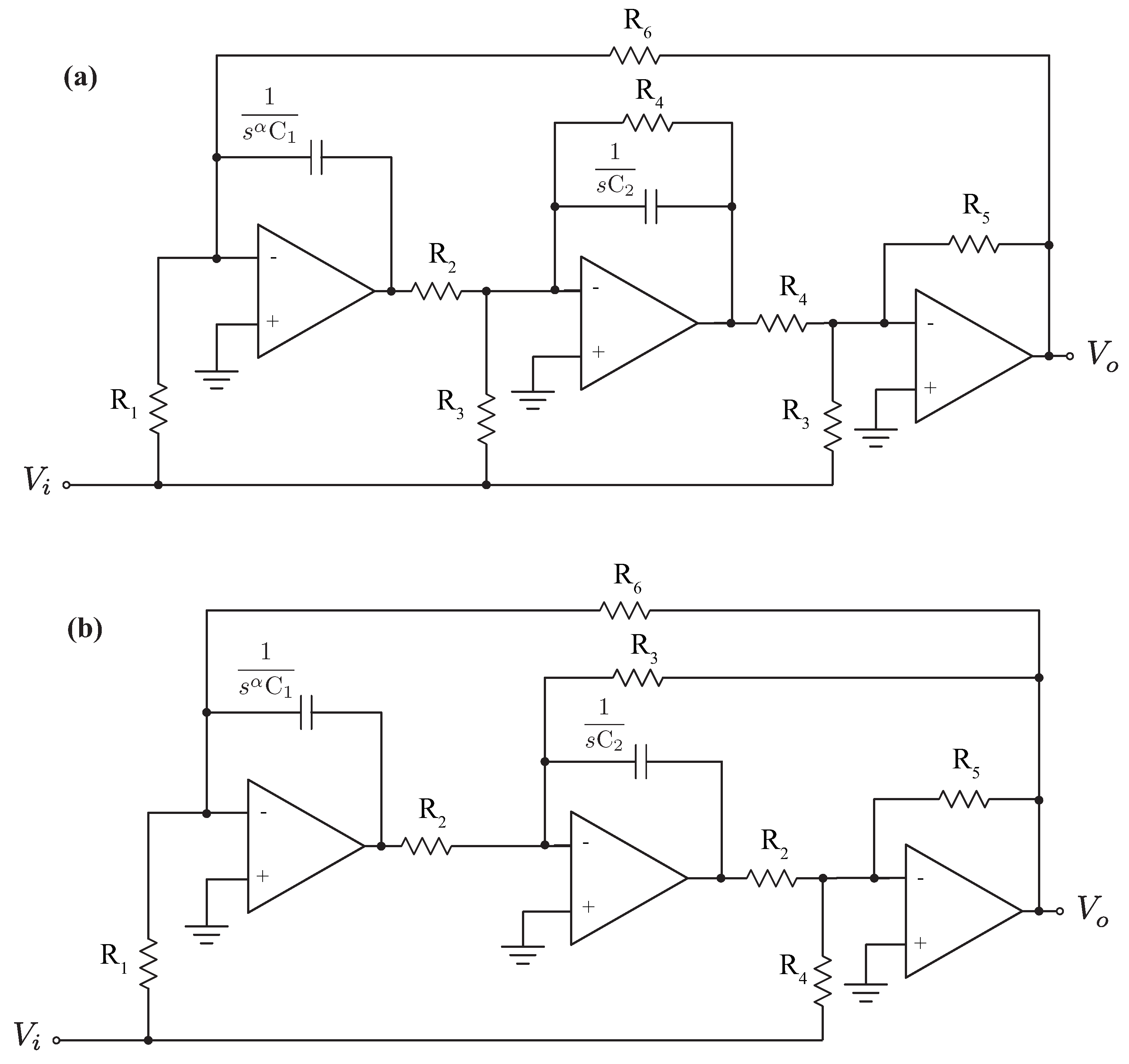 Applied Sciences Free Full Text Validation Of Fractional Order Low Pass Filter Circuit Is Shown In The Figure This Figures No