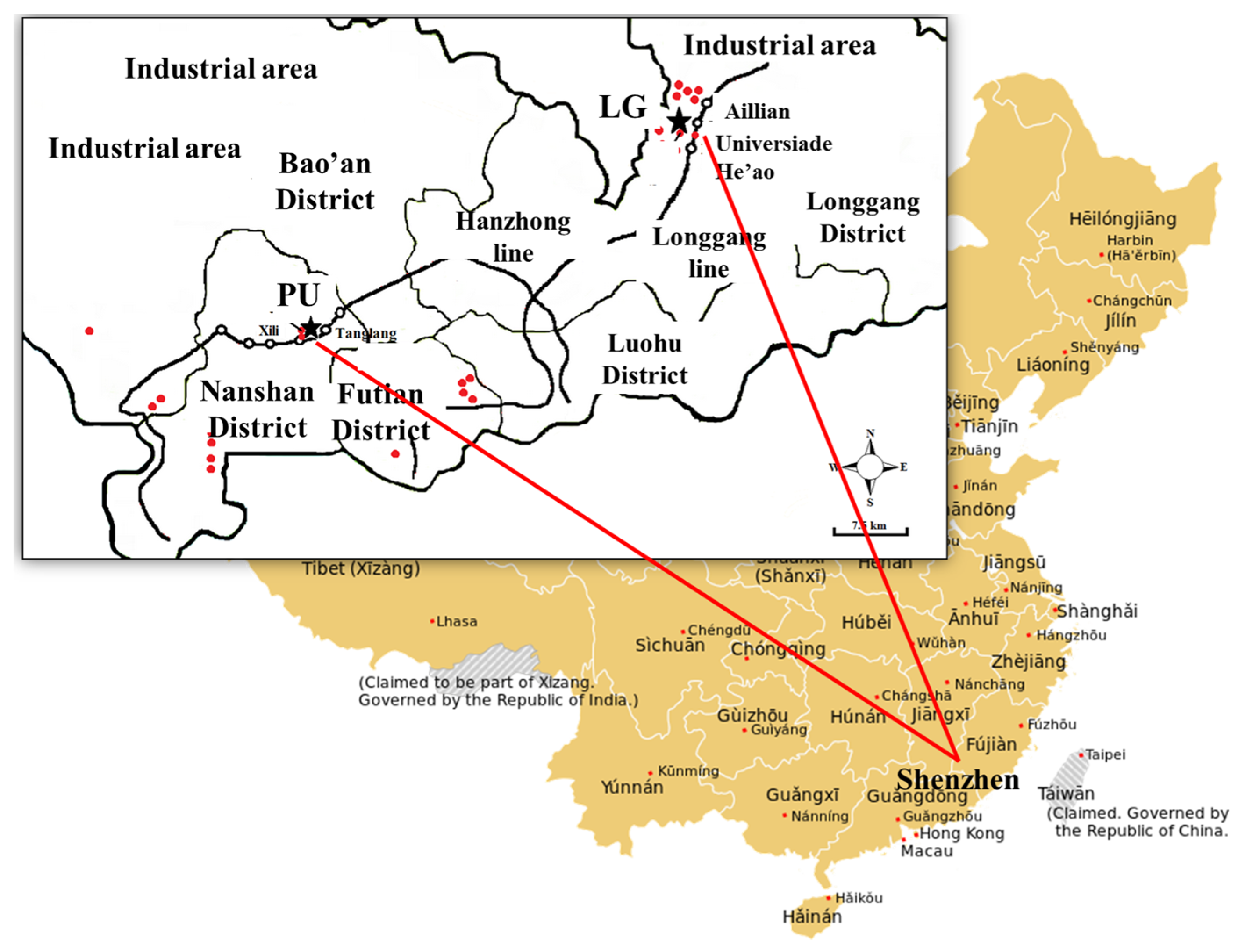 List of major power stations in yunnan - Atmosphere 07 00057 G001 1024