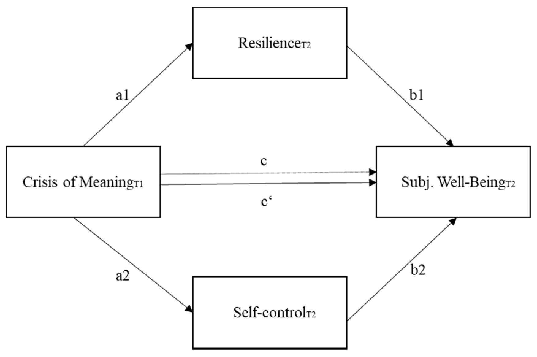Behavioral Sciences Free Full Text Crisis Of Meaning And Subjective Well Being The Mediating Role Of Resilience And Self Control Among Gifted Adults