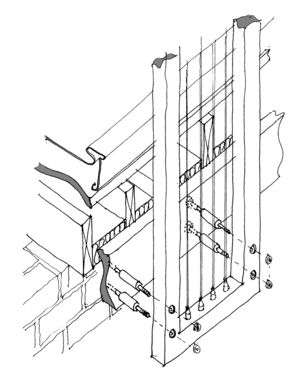 Furniture Assembly Drawings Balustrade Assembly Detail