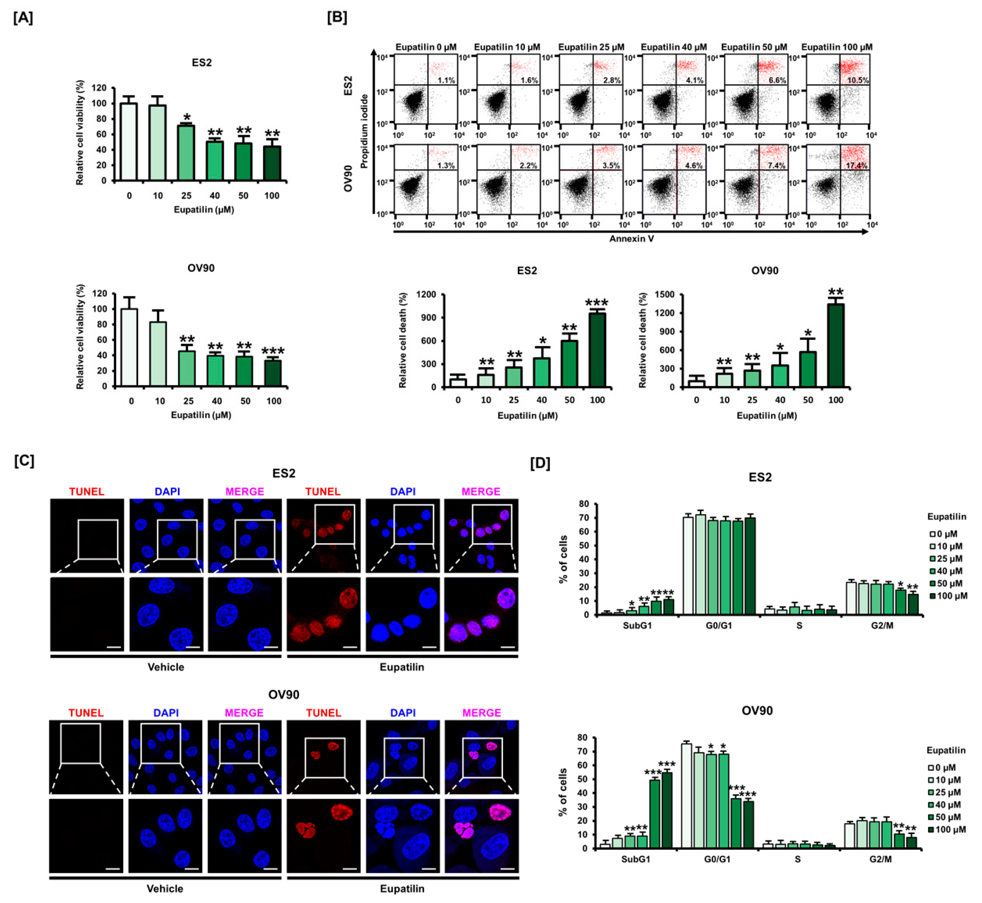 Cancers Free Full Text Eupatilin Promotes Cell Death By Calcium Influx Through Er Mitochondria Axis With Serpinb11 Inhibition In Epithelial Ovarian Cancer Html