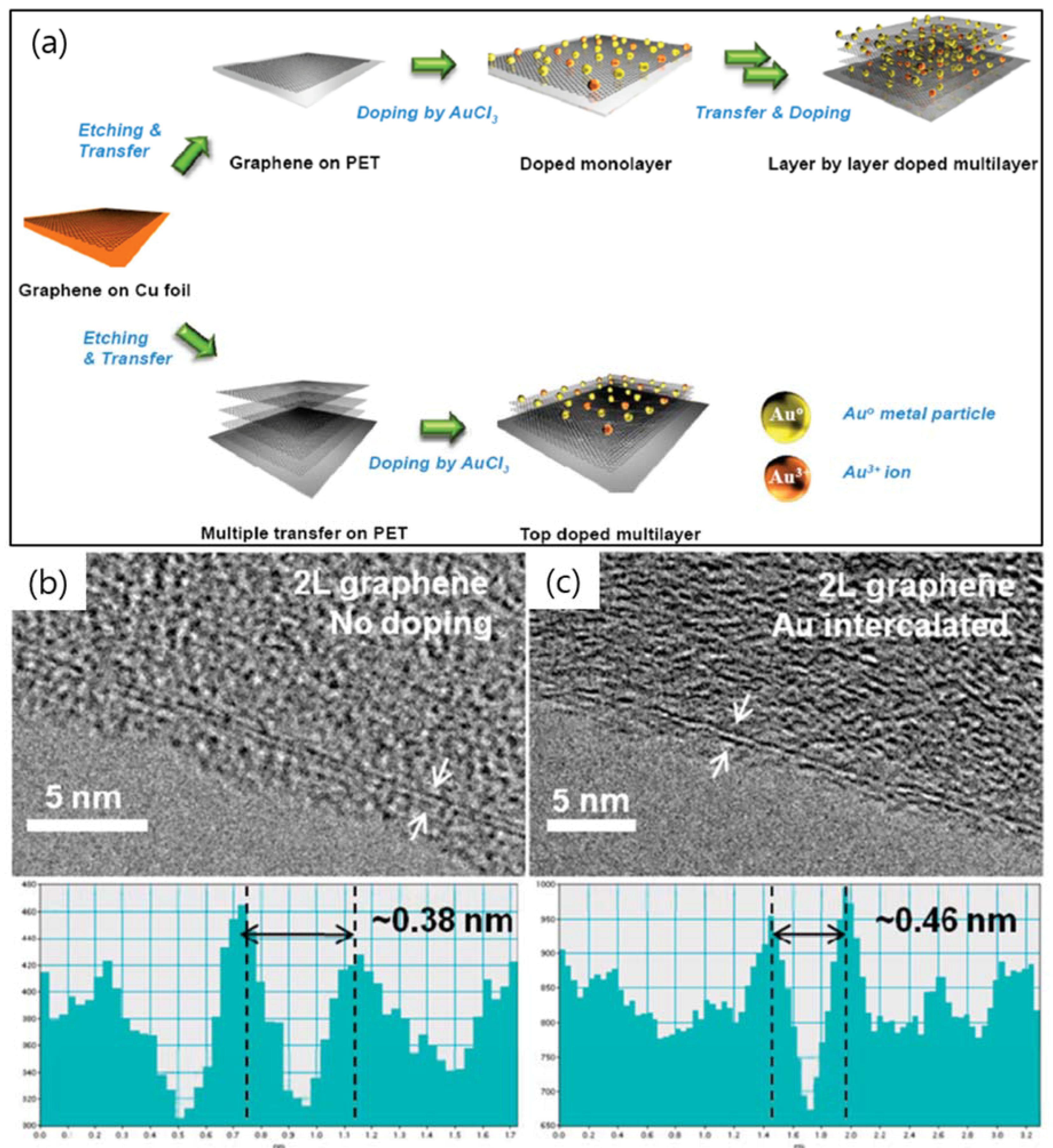 Graphene Bands: A Library Of Doped-Graphene Images