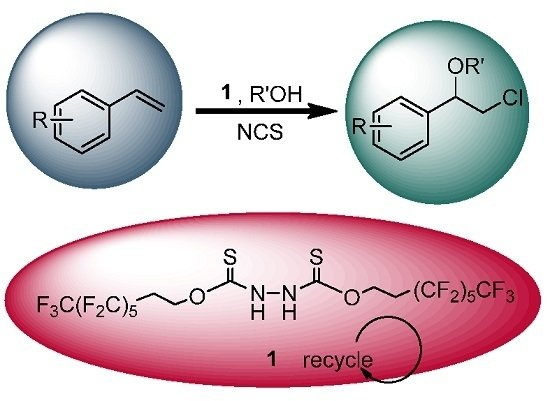 A Recyclable Fluorous Hydrazine‐1,2BisCarbothioate Organocatalyst for the Synthesis of ꞵ‐Chloroethers with N‐Chlorosuccinimide