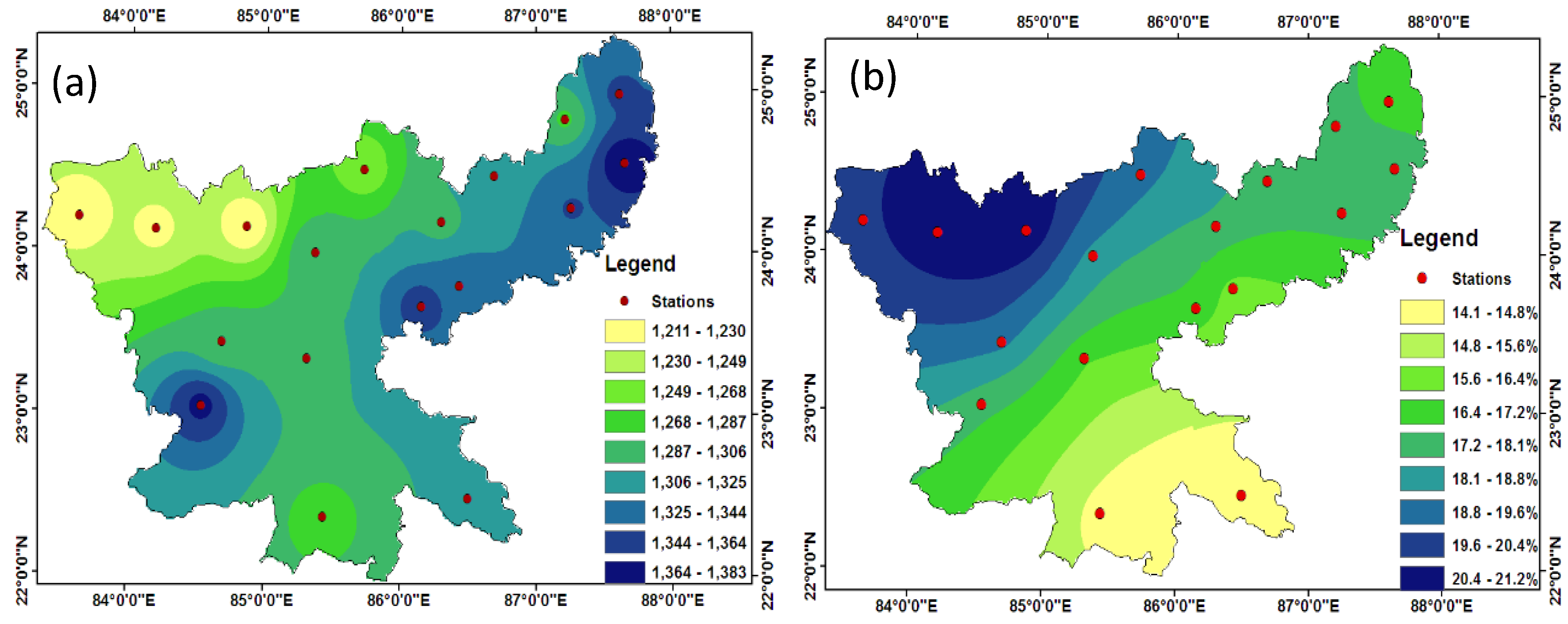 Climate | Free Full-Text | Long Term Spatiotemporal Variability in on