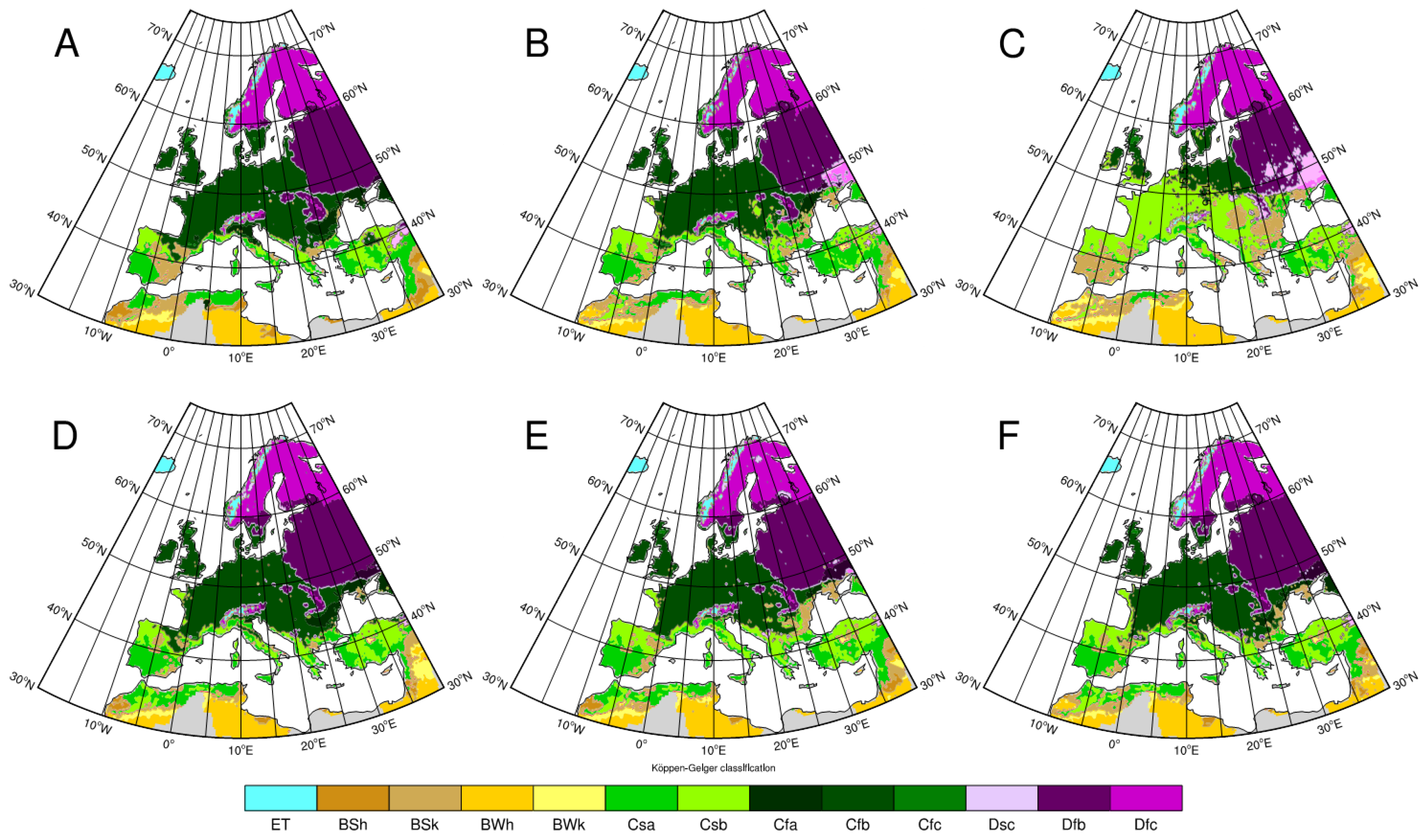 Image of: Climate Free Full Text Influence Of Bias Correction Methods On Simulated Koppen Geiger Climate Zones In Europe Html