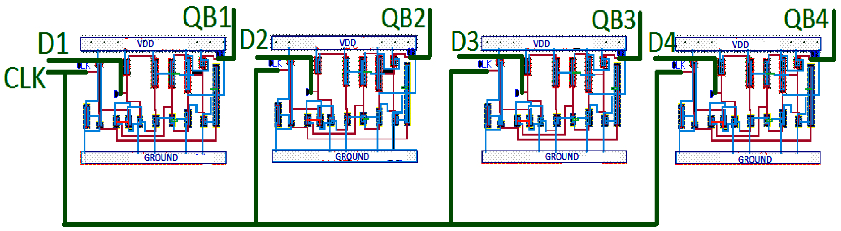 Electronics Free Full Text Low Power High Efficiency Shift Circuit Diagram Of D Flip Flop 05 00092 G015