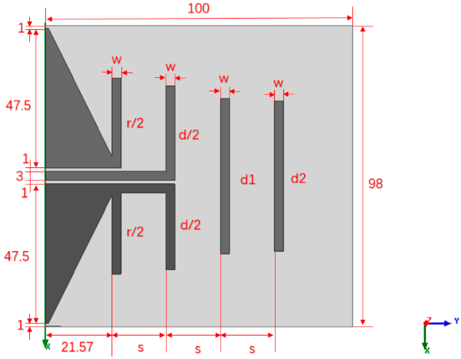 Electronics | Free Full-Text | A Printed Yagi Antenna for CubeSat with  Multi-Frequency Tilt Operation | HTML