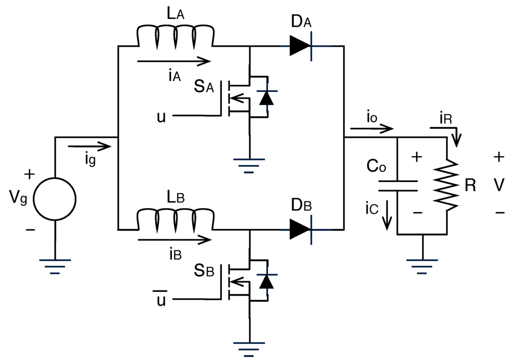 modeling of closed loop voltage mode controlled interleaved [13], associated closed loop control  high impedance to the differential- mode (dm) pwm voltage component (v a v  the modeling of the two-stage interleaved.