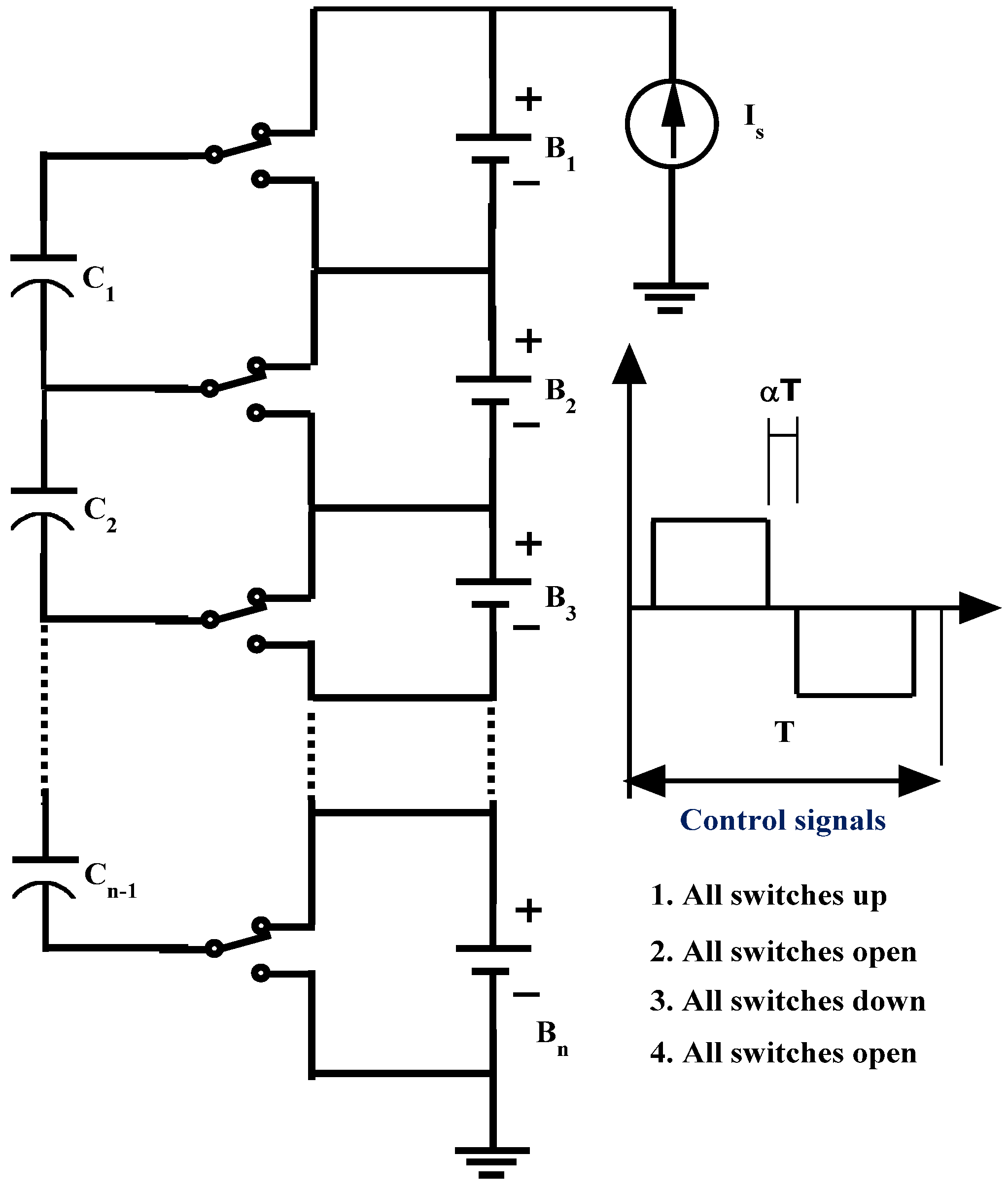 Energies Free Full Text Single Switched Capacitor Battery Shows A Circuit With C Connected In Series Resistor 06 02149 G002