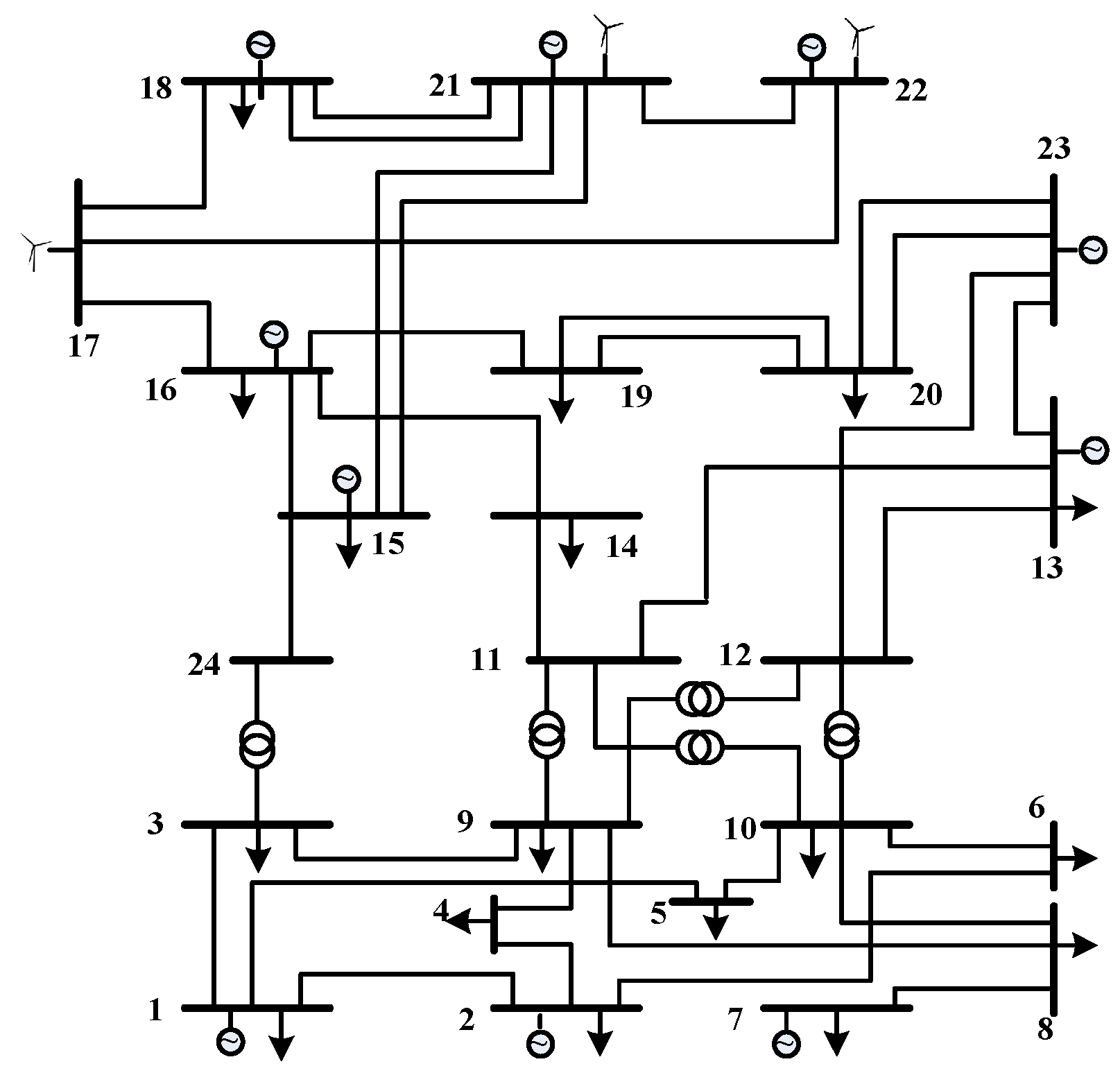 Load flow study in matlab
