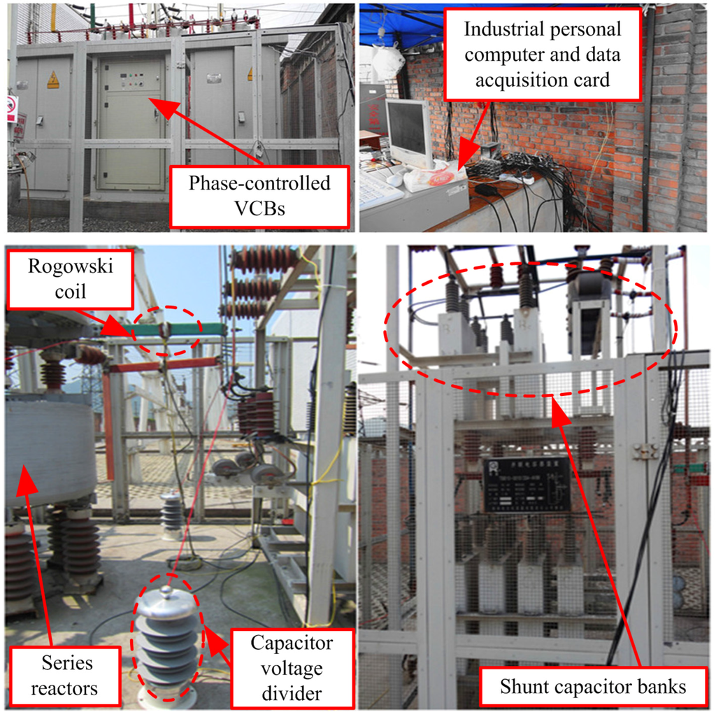 Energies Free Full Text Field Experiments On 10 Kv Switching Shunt Capacitor Banks Using Ordinary And Phase Controlled Vacuum Circuit Breakers Html