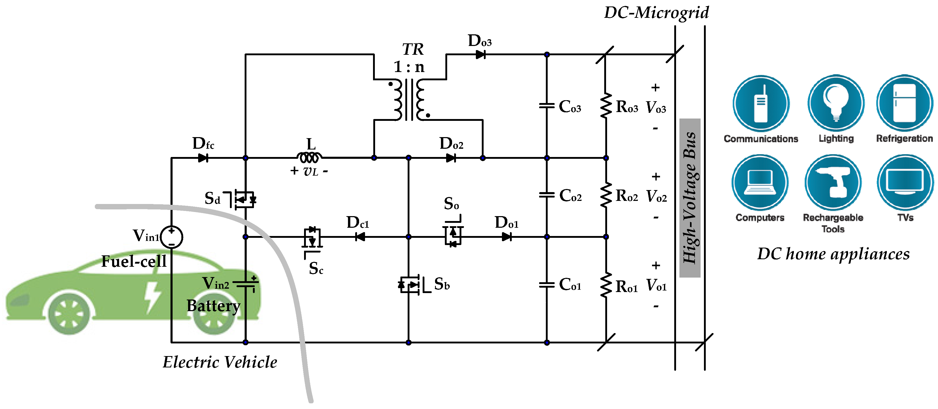 Electric Vehicle Power Circuit Wiring Diagrams Battery Parallel Images Gallery