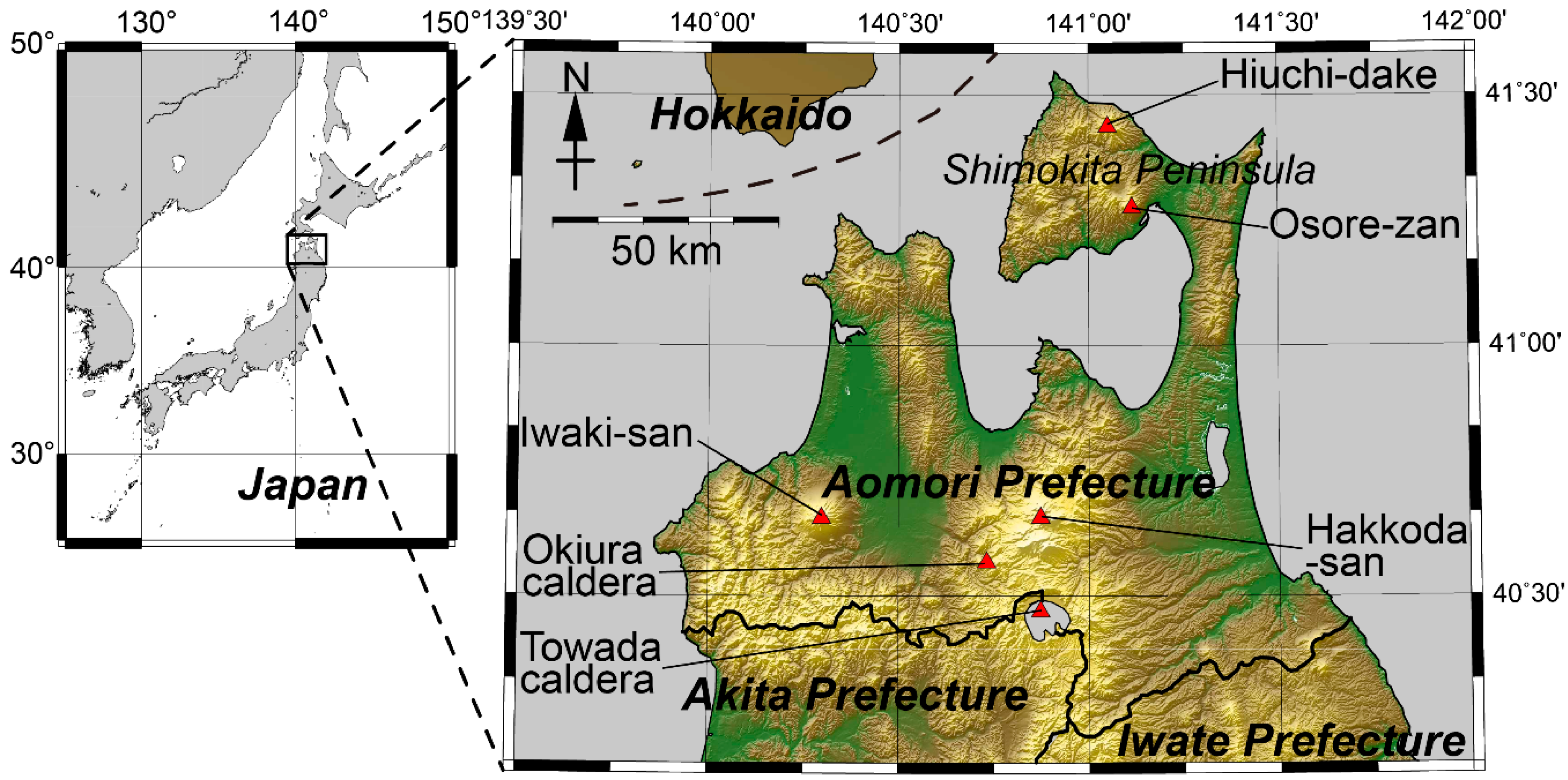 Energies Free FullText Comparative Study Of The Subsurface - Japan map honshu