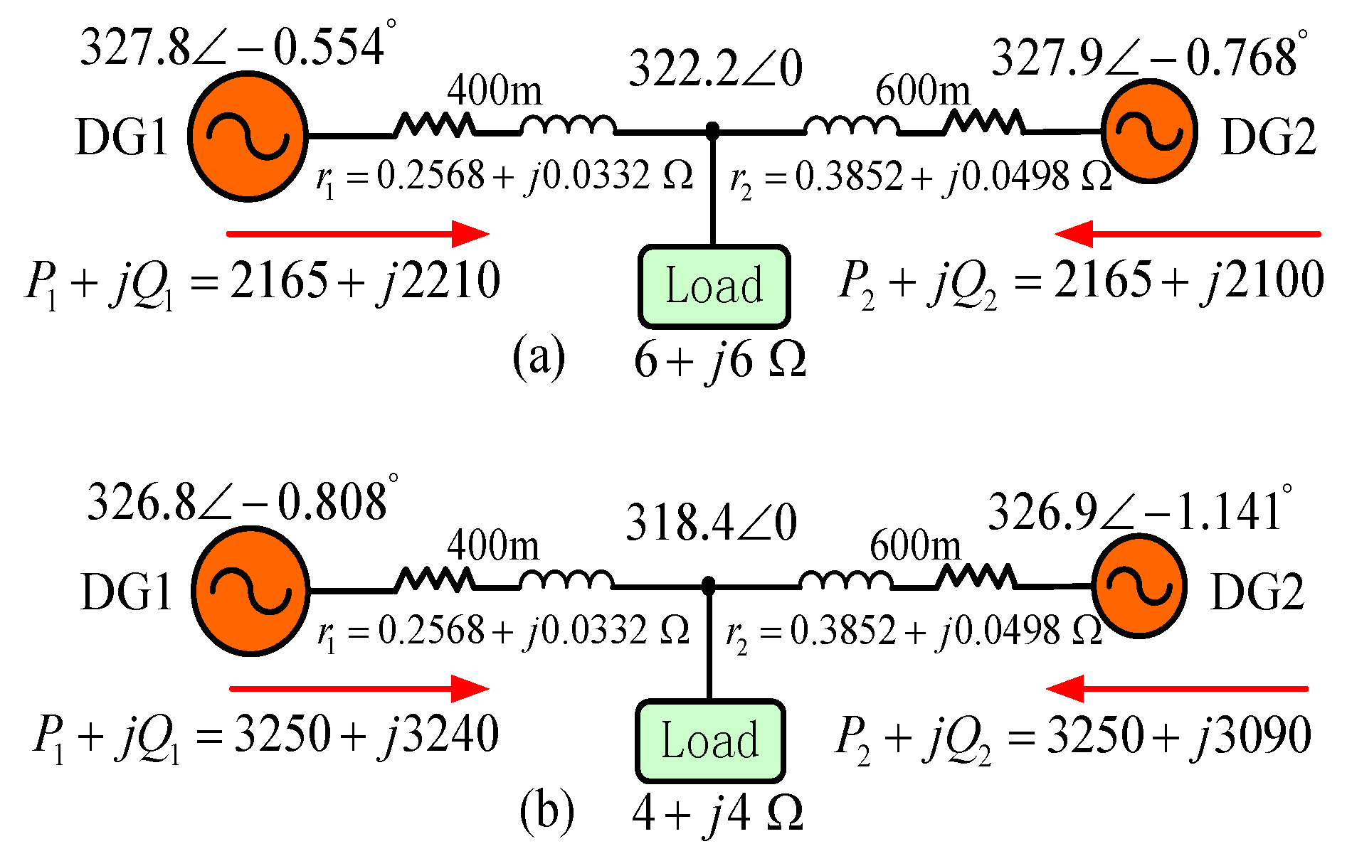 Energies Free Full Text Conventional P Q V Droop Control In Figure 318 Solving For Applied Voltage A Series Circuit Figures No