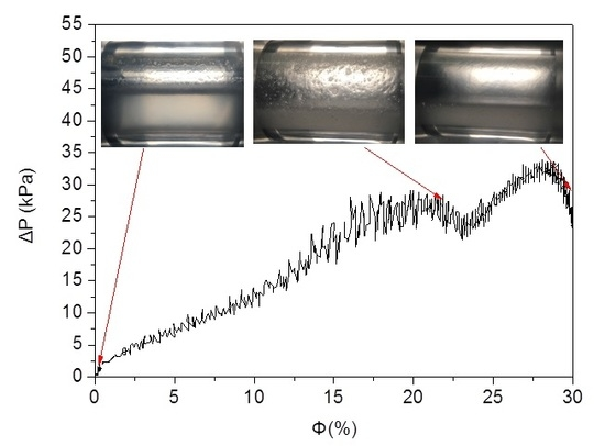 Investigation of the Flow Characteristics of Methane Hydrate Slurries with Low Flow Rates