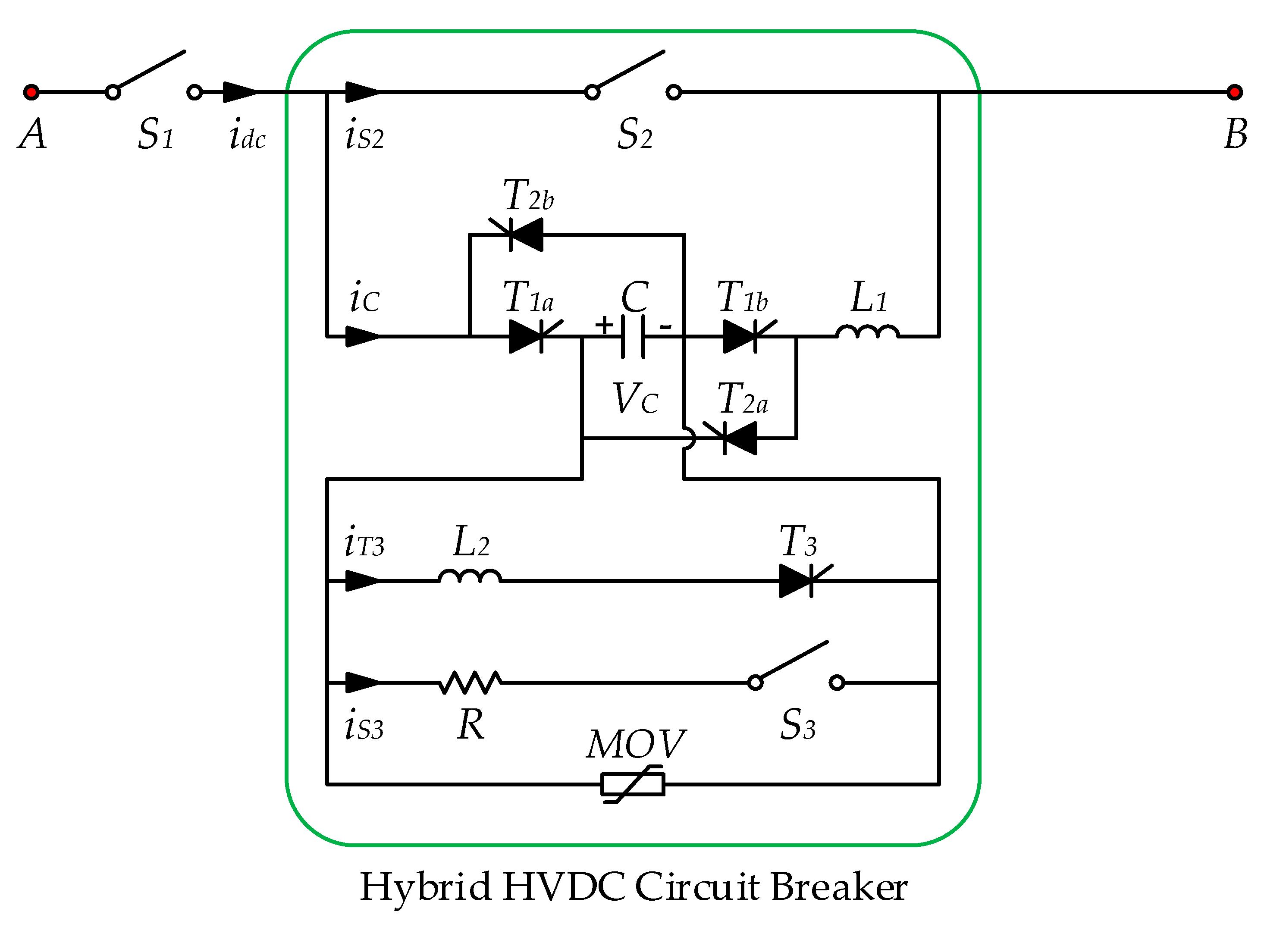 Energies Free Full Text A Novel Topology Of Hybrid Hvdc Circuit Line Breaker No