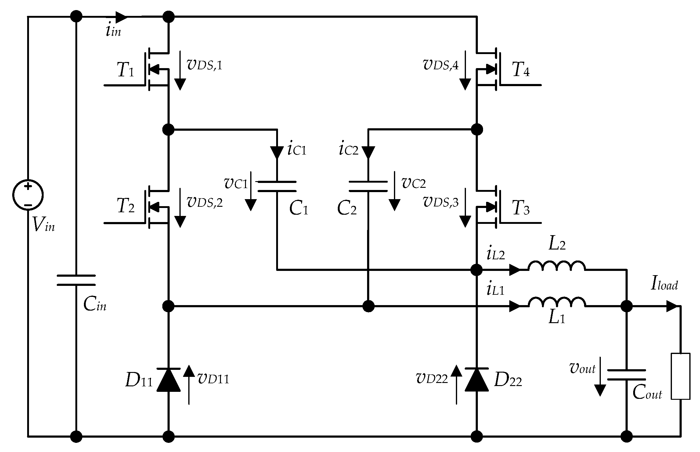 Energies Free Full Text Theoretical And Experimental Boost Converter Current Path With Mosfet On 11 01017 G001