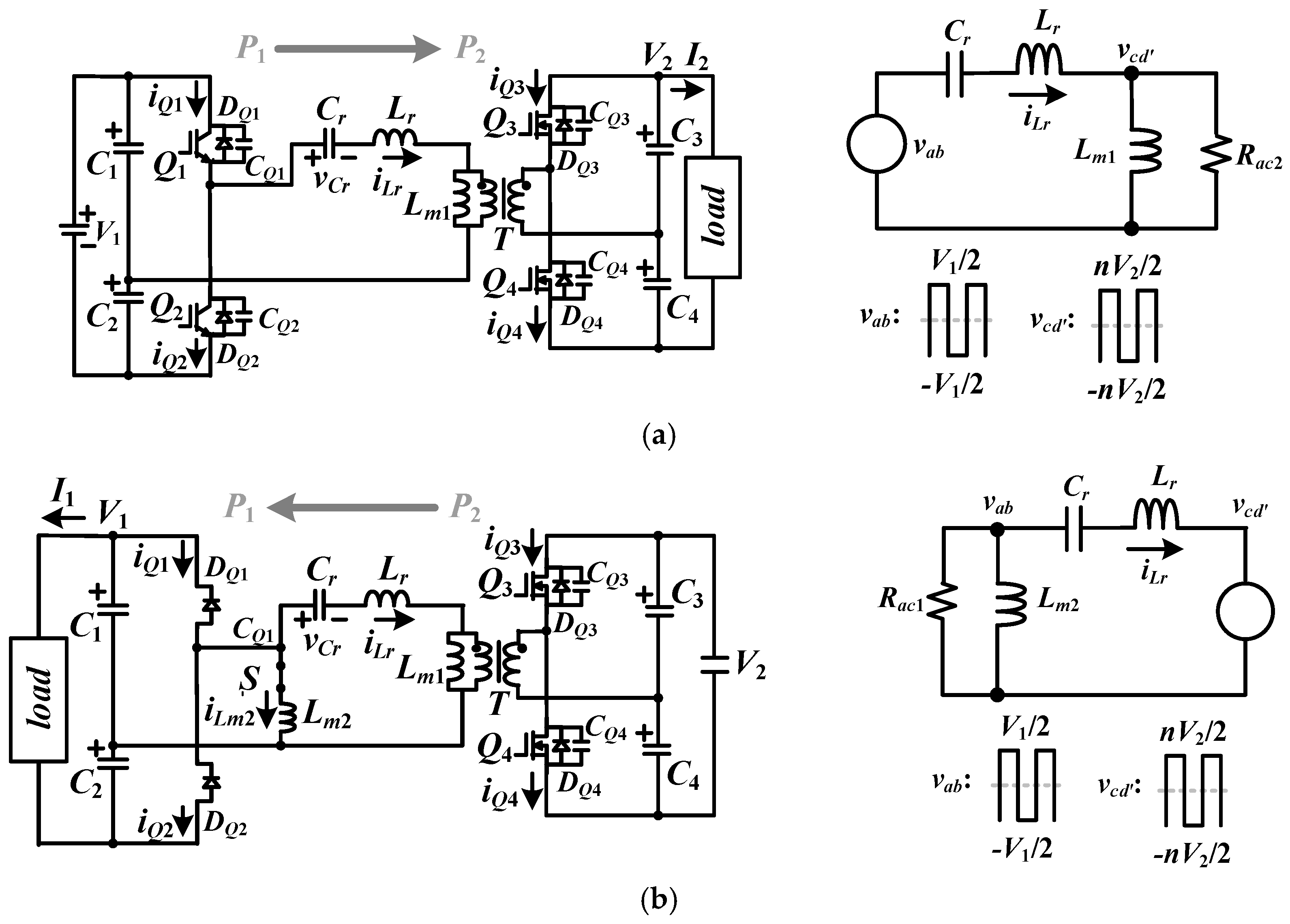 Energies Free Full Text Bidirectional Resonant Converter With Is The Dc Motor Circuit Which Allows Forward And Reverse 11 01259 G002