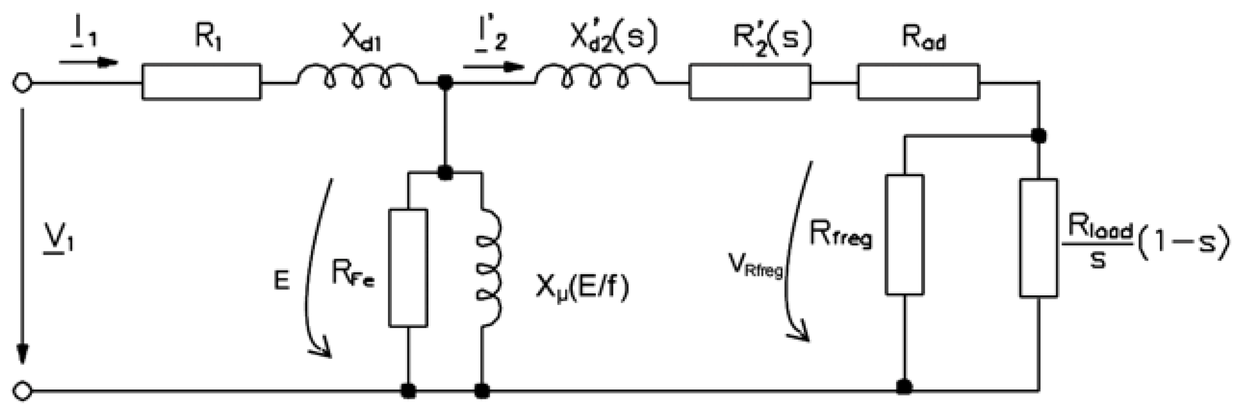 Energies Free Full Text Permanent Magnet Synchronous Motor With Equivalent Circuit Diagram Of The Induction No