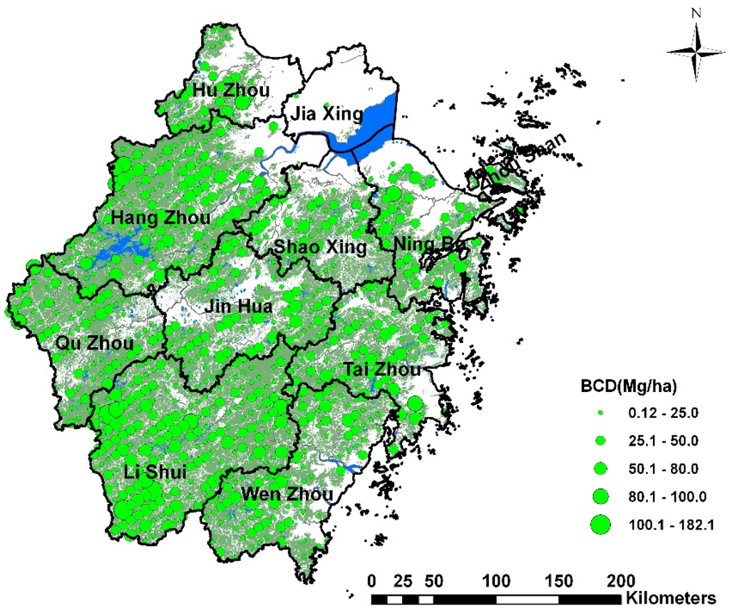 Forests Free FullText Spatial Variation Of Biomass Carbon - Us forest biomass map