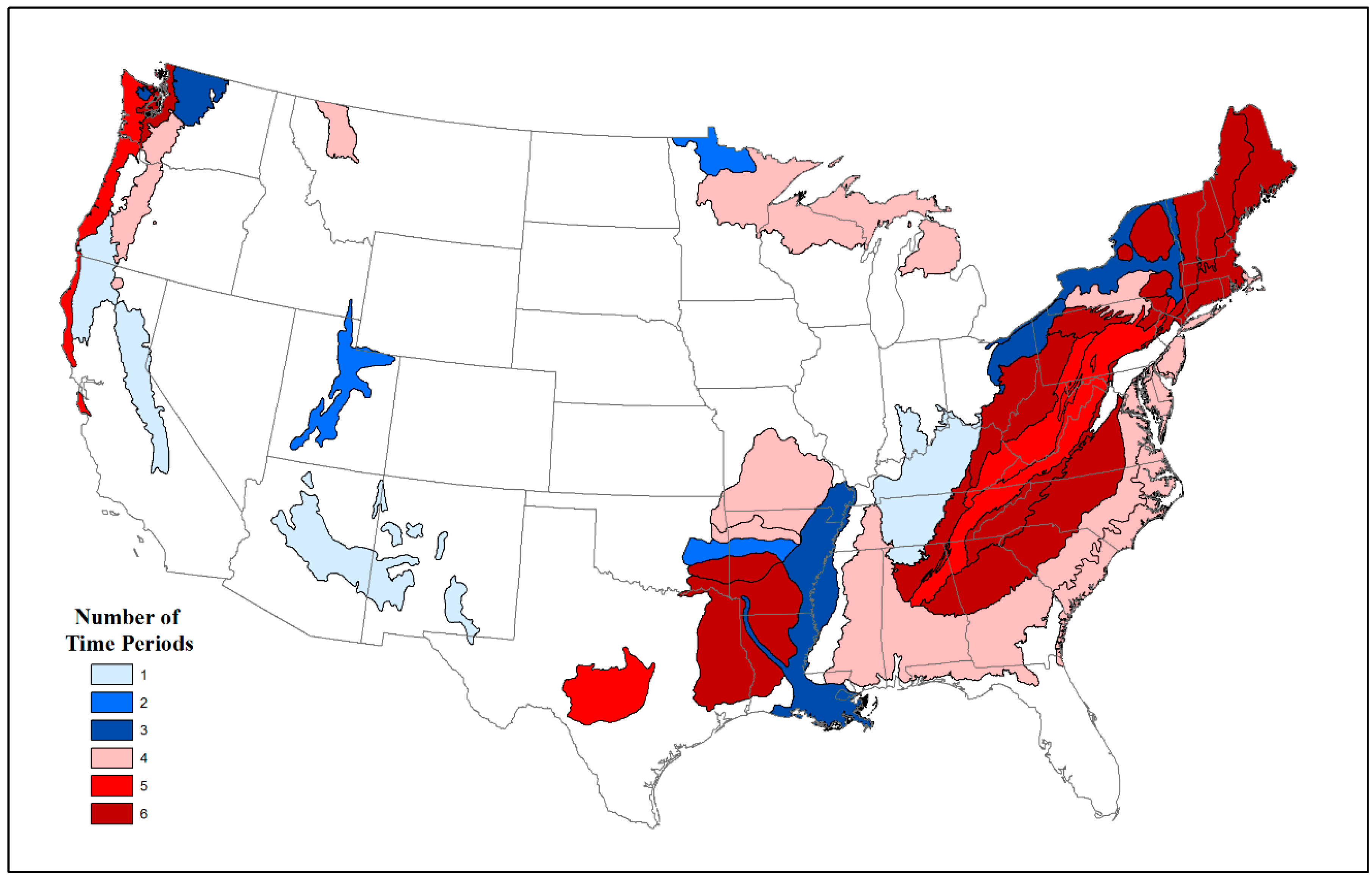 Forests Free FullText Regional Differences In Upland Forest - Us forest cover map
