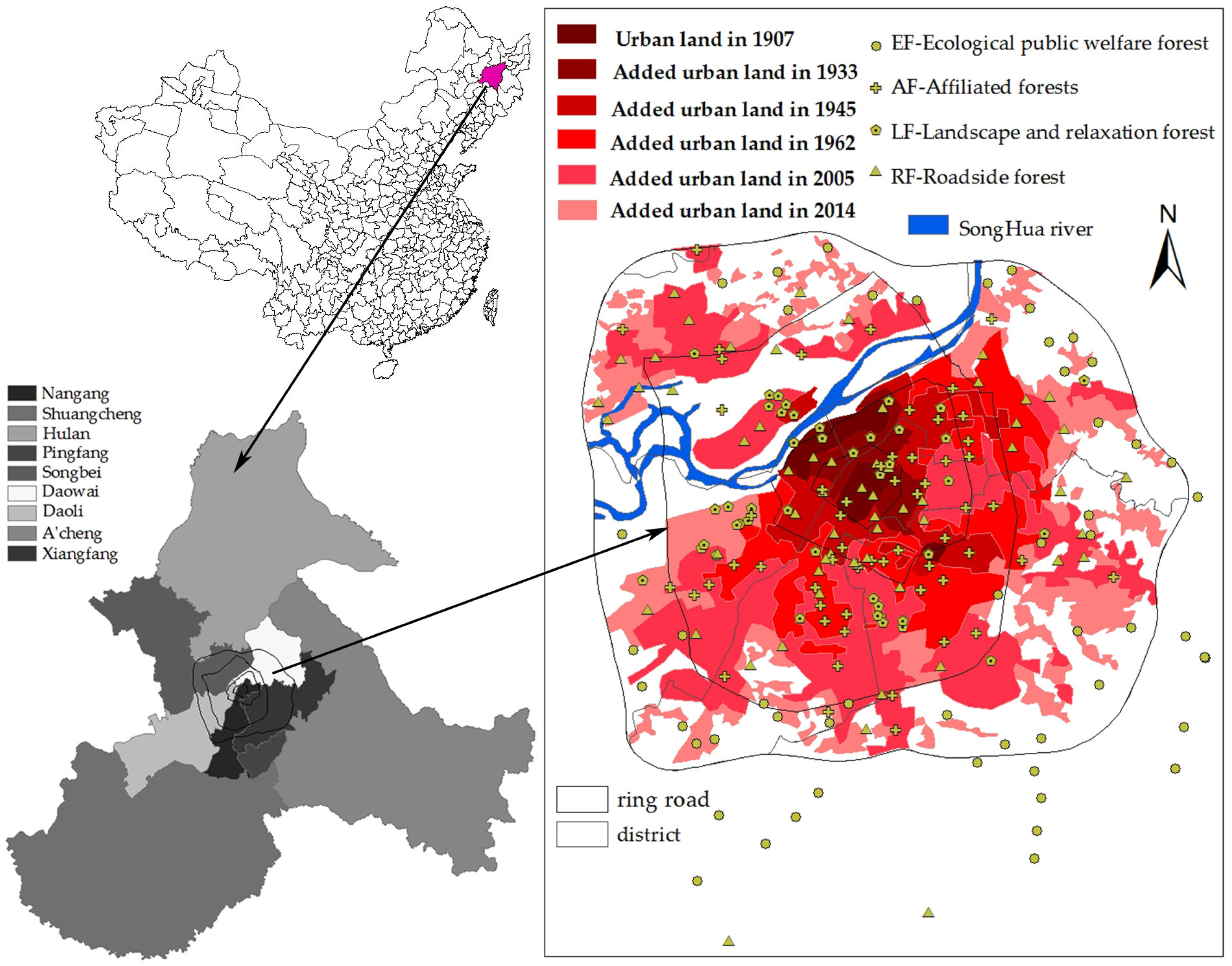 Forests Free Full Text Quantifying Tree And Soil Carbon Stocks In A Temperate Urban Forest In Northeast China Html