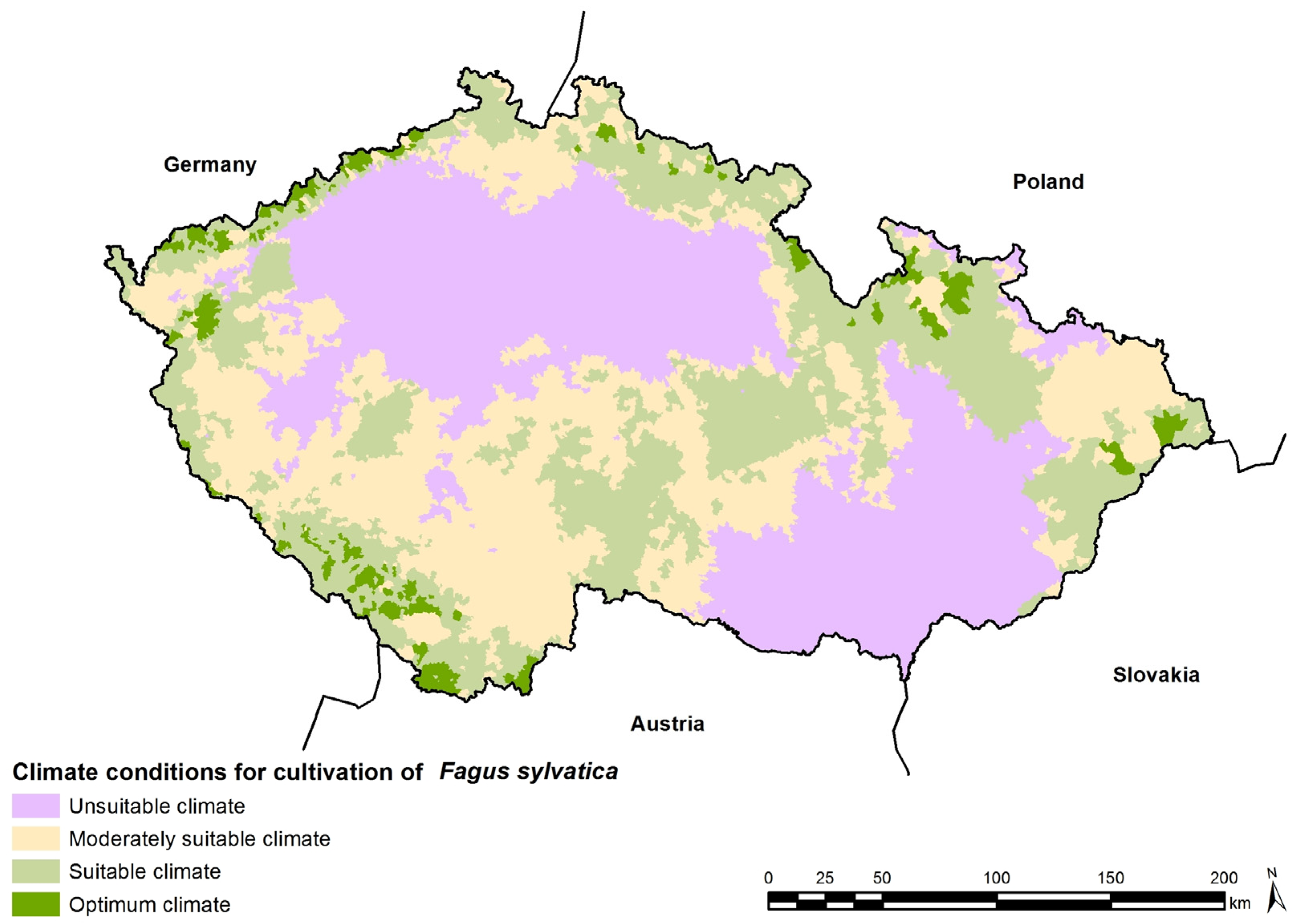 Forests Free FullText Modelling Of Climate Conditions In - Austria climate map