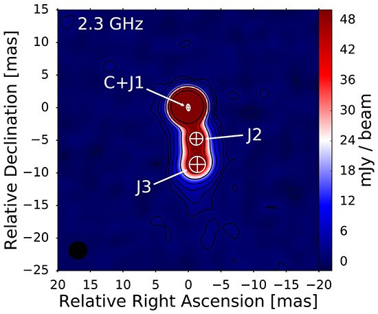 Precessing Jet in the High-Redshift Blazar J0017 8135