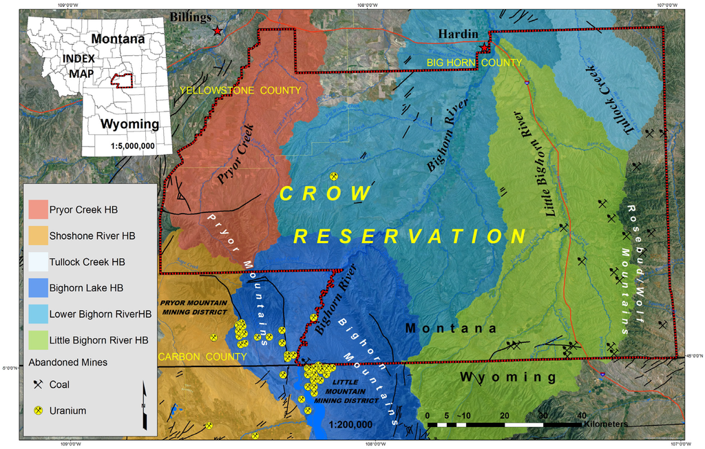Crow Reservation Montana Map.Geosciences Free Full Text Potential Health Risks From Uranium