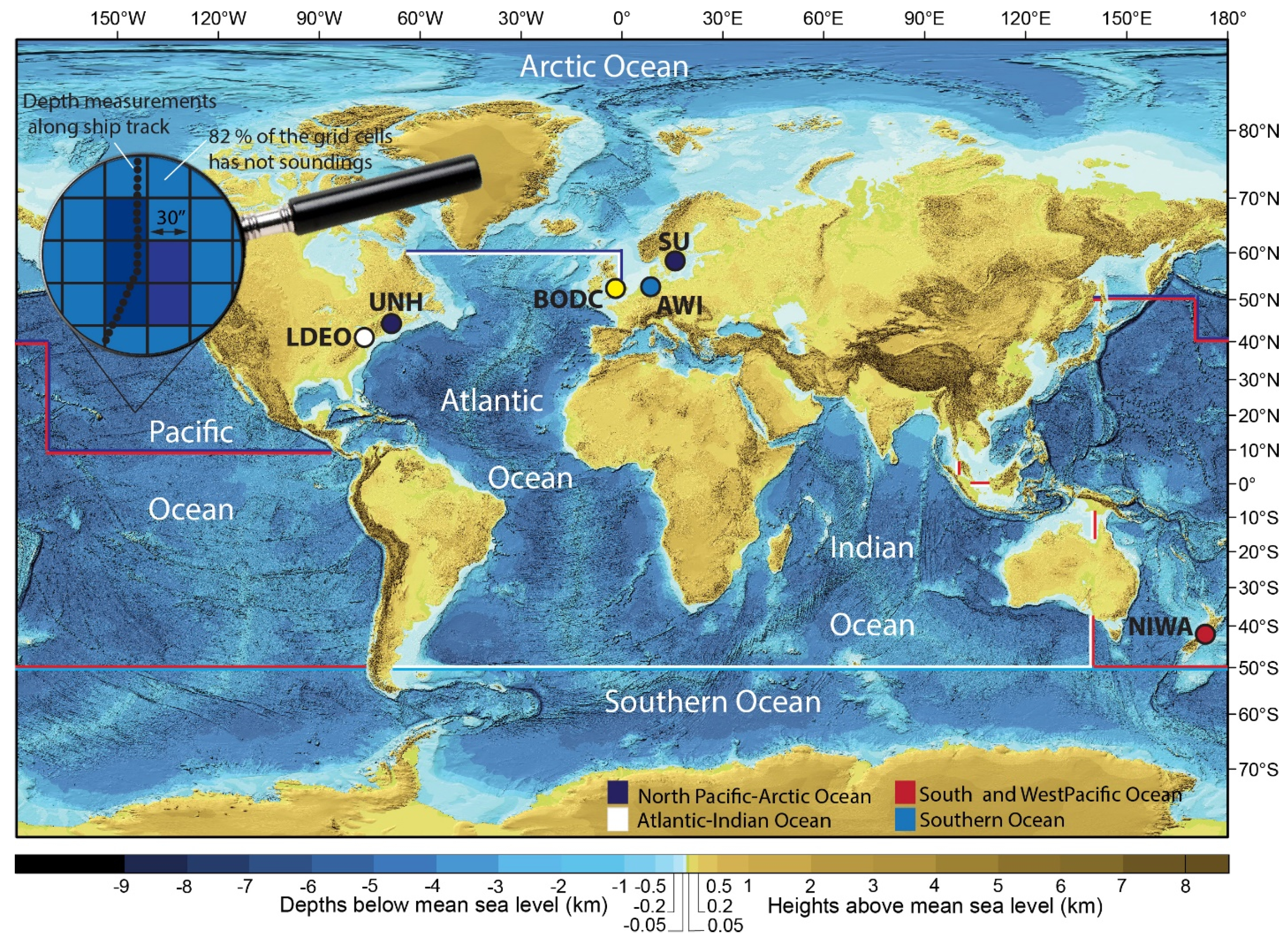 Geosciences Free FullText The Nippon FoundationGEBCO Seabed - Pacific ocean depth map