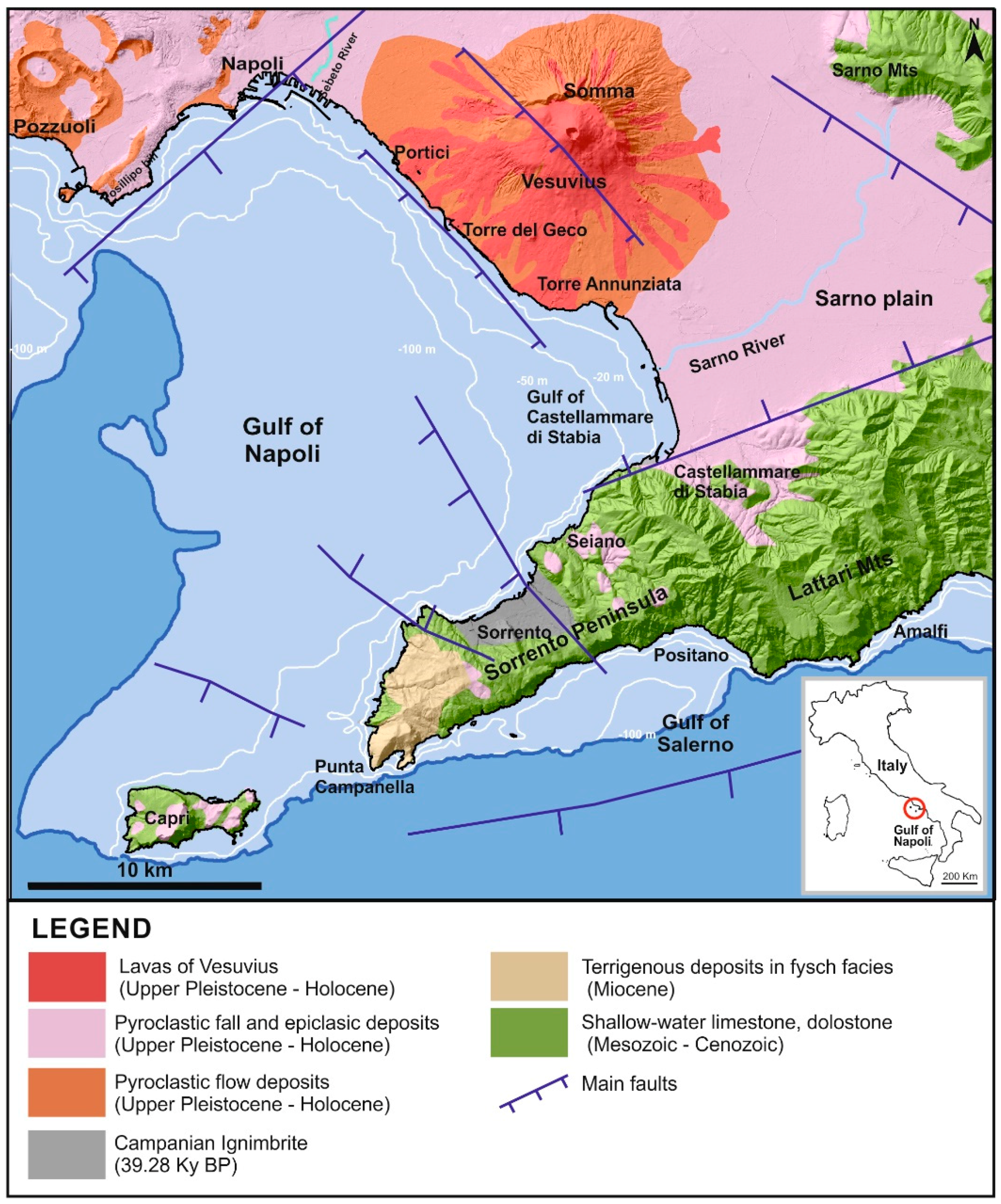 Geosciences Free Full Text Beach Erosion In The Gulf Of Castellammare Di Stabia In Response To The Trapping Of Longshore Drifting Sediments Of The Gulf Of Napoli Southern Italy Html