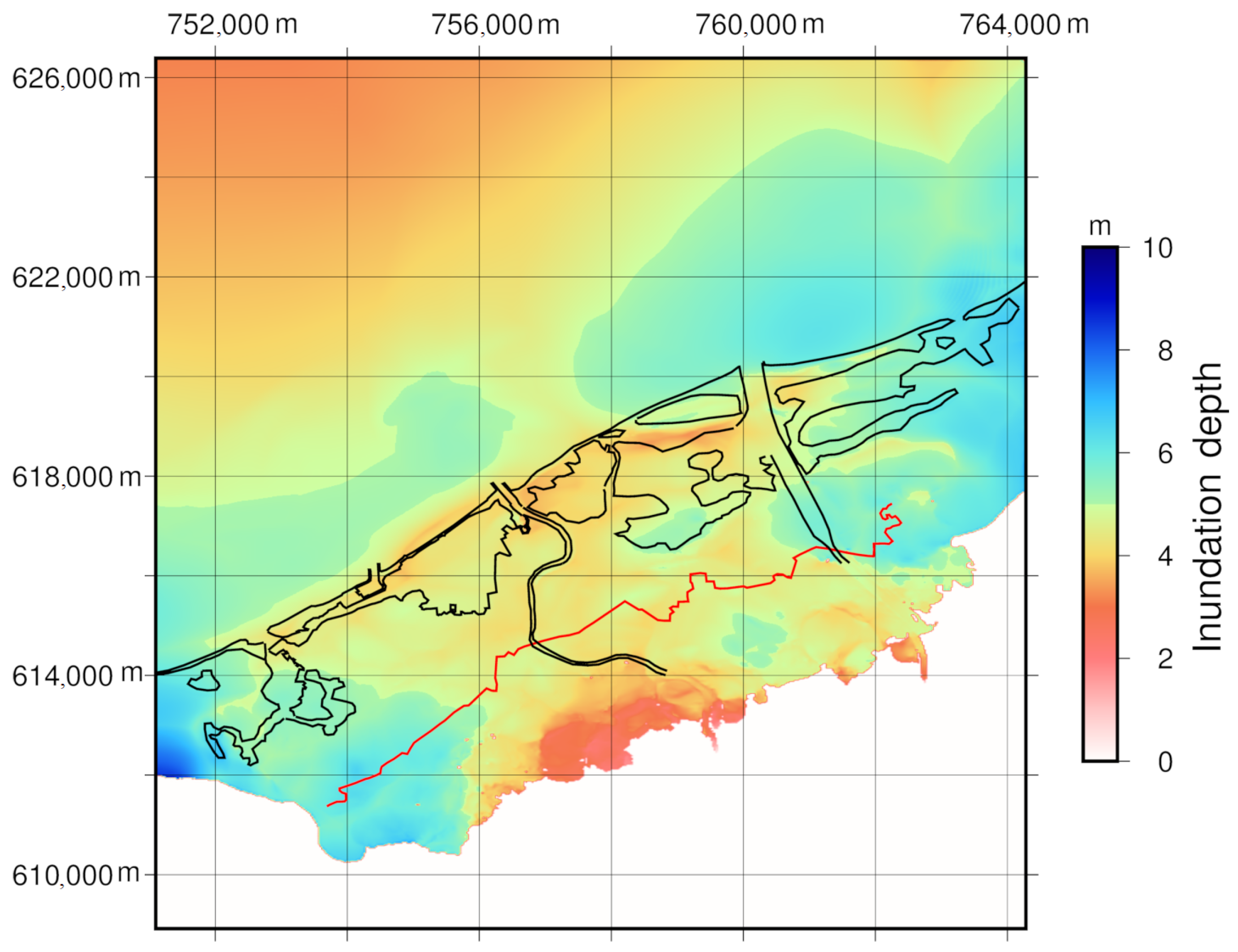 Geosciences Free Full Text Numerical Simulation Of Morphological Changes Due To The 2004 Tsunami Wave Around Banda Aceh Indonesia