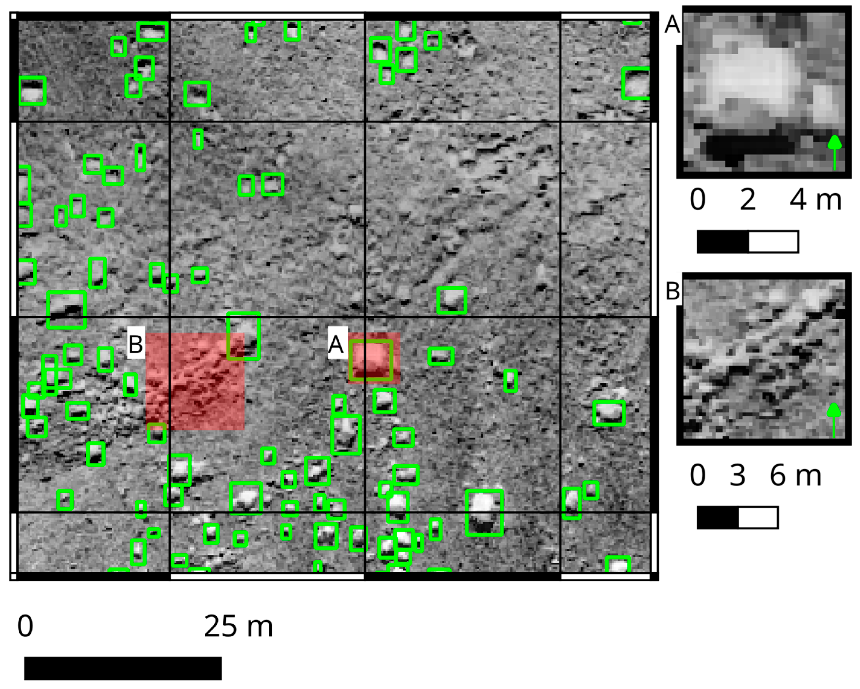 Geosciences | Free Full-Text | Detection of Boulders in Side Scan