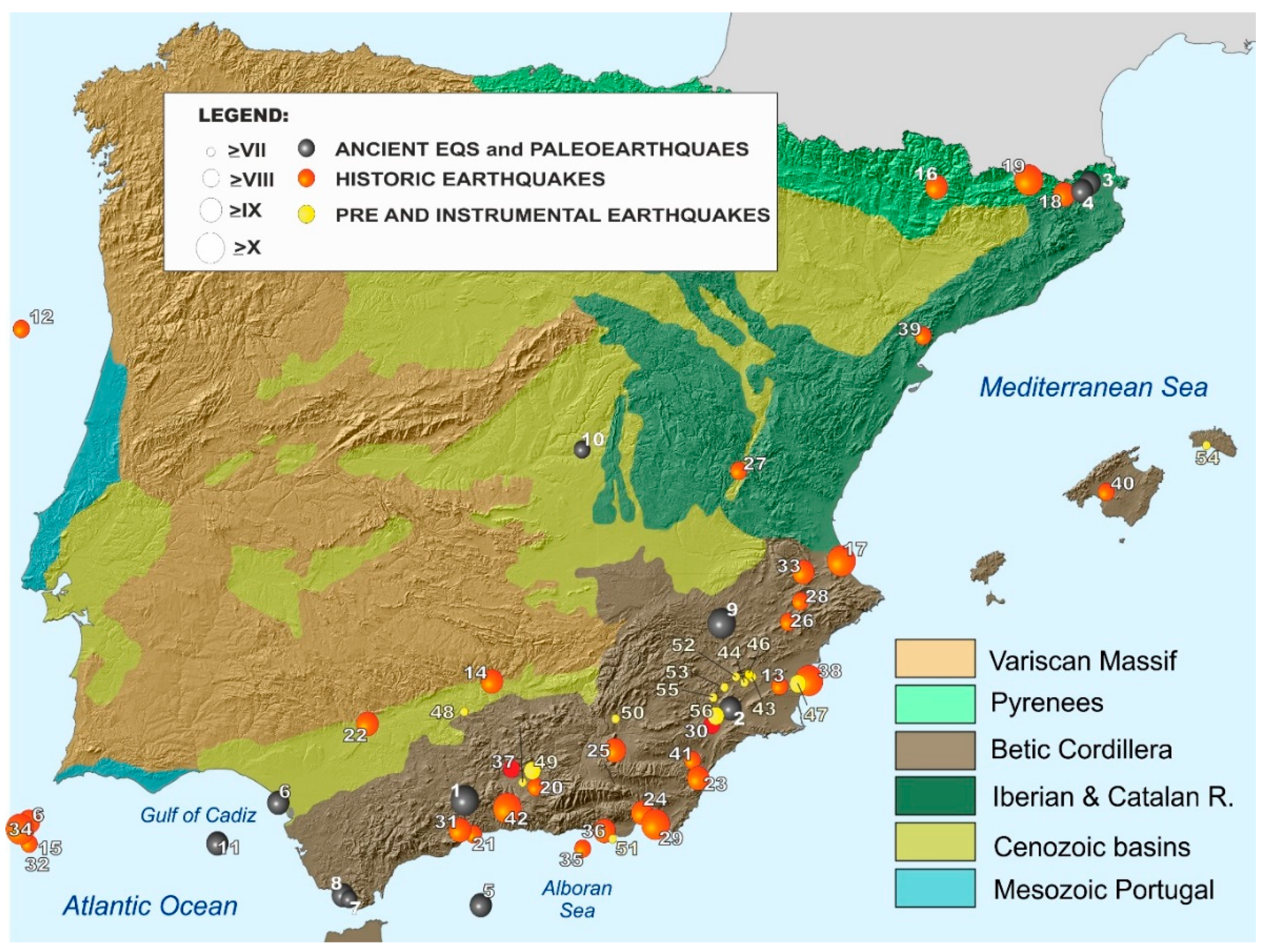 Geological Map Of Spain.Geosciences Free Full Text Catalogue Of The Geological Effects