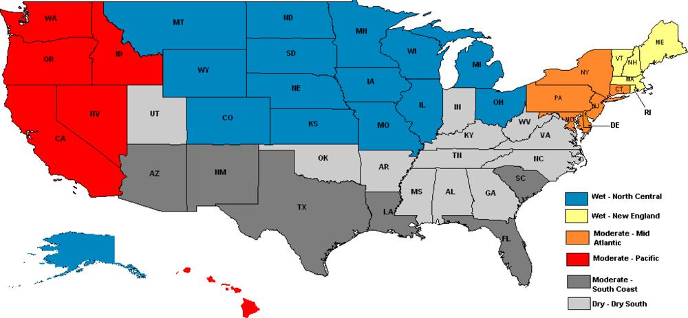 Map Of South Us Region Globalinterco - Regional map of the us