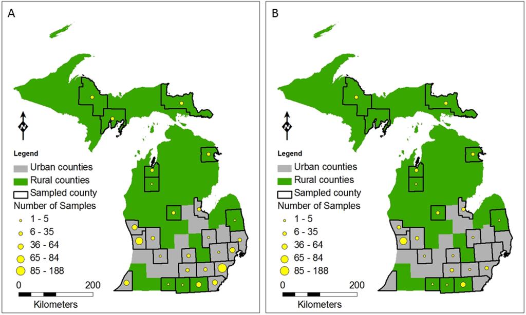 Michigan Bear Population Map Swimnovacom - Michigan county map usa