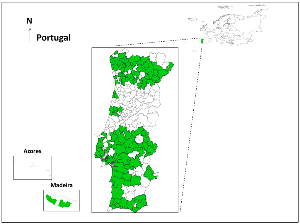IJERPH - Free Full-Text - Mosquito Surveillance for Prevention and Control of Emerging Mosquito-Borne Diseases in Portugal - 2008-2014 - HTML Mosquito Surveillance for Prevention and Control of Emerging Mosquito-Borne Diseases in Portugal - 2008-2014 - 웹