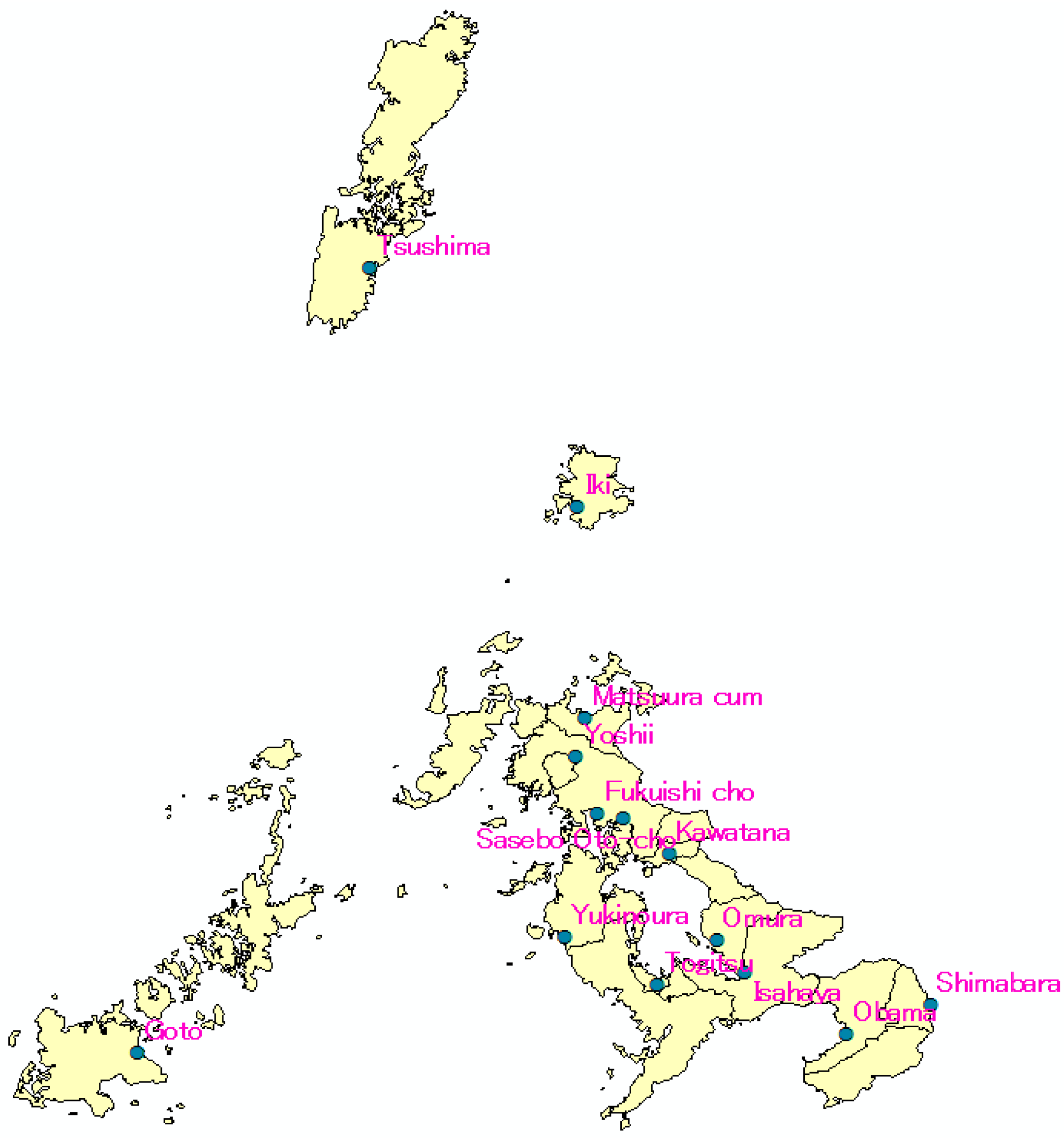 IJERPH Free FullText Effects Of Meteorological Conditions On - Japan map nagasaki