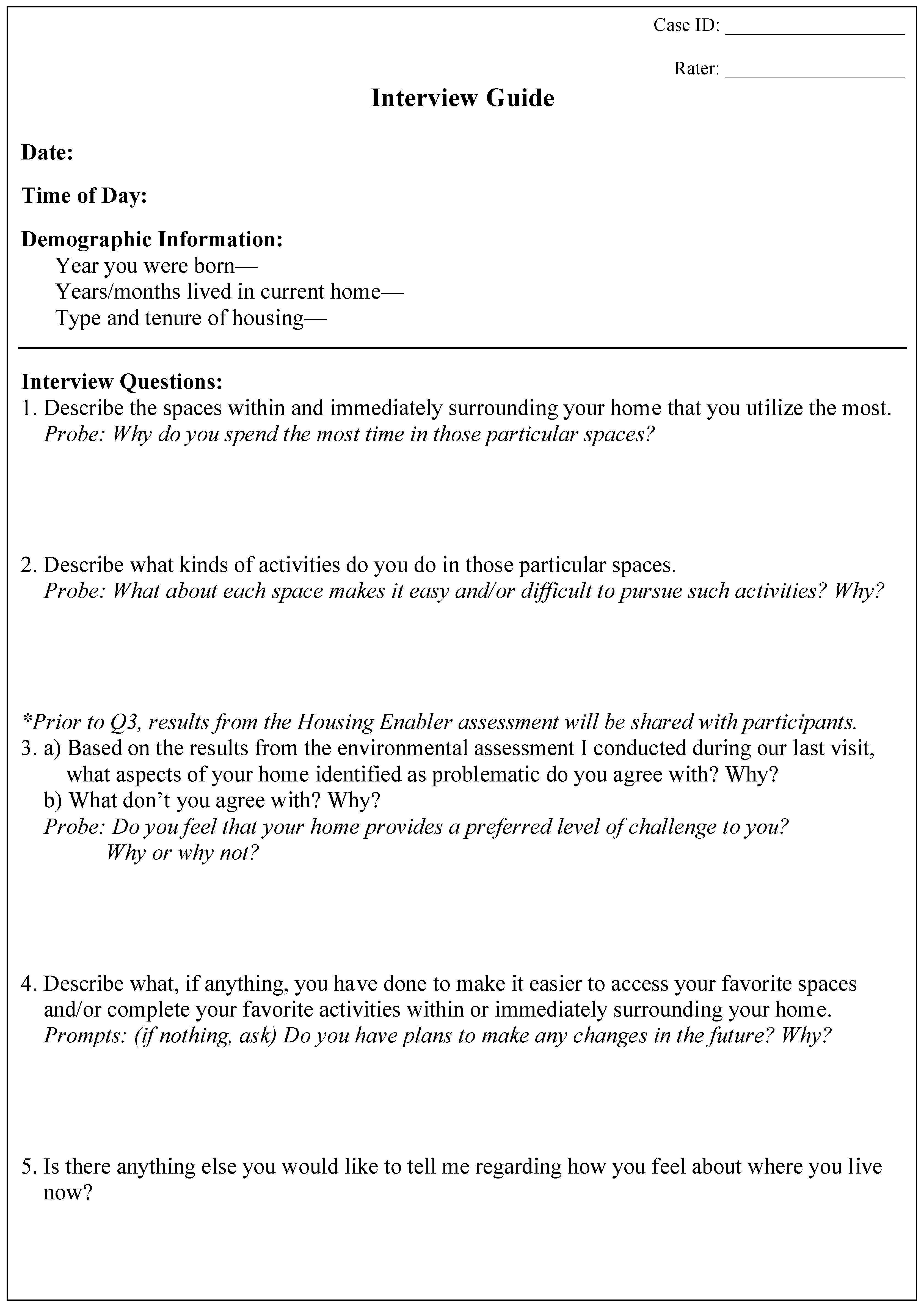 abstract interview questions