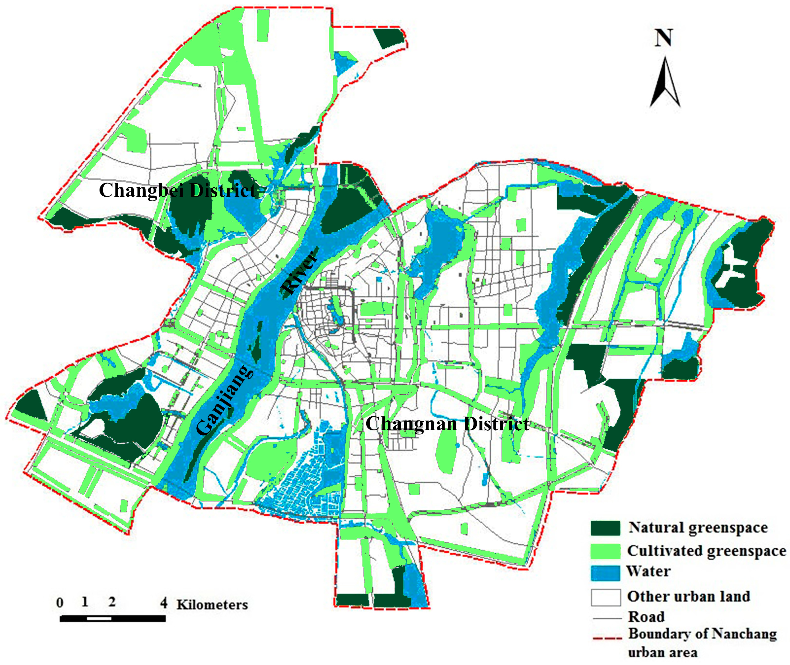 Network Map Example: Planning Of Green Space