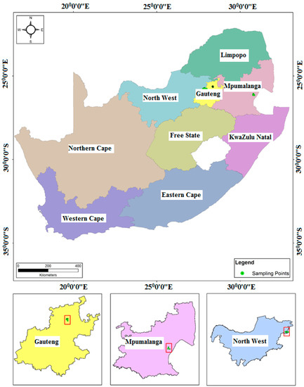 Occurrence of Emerging Micropollutants in Water Systems in Gauteng, Mpumalanga, and North West Provinces, South Africa