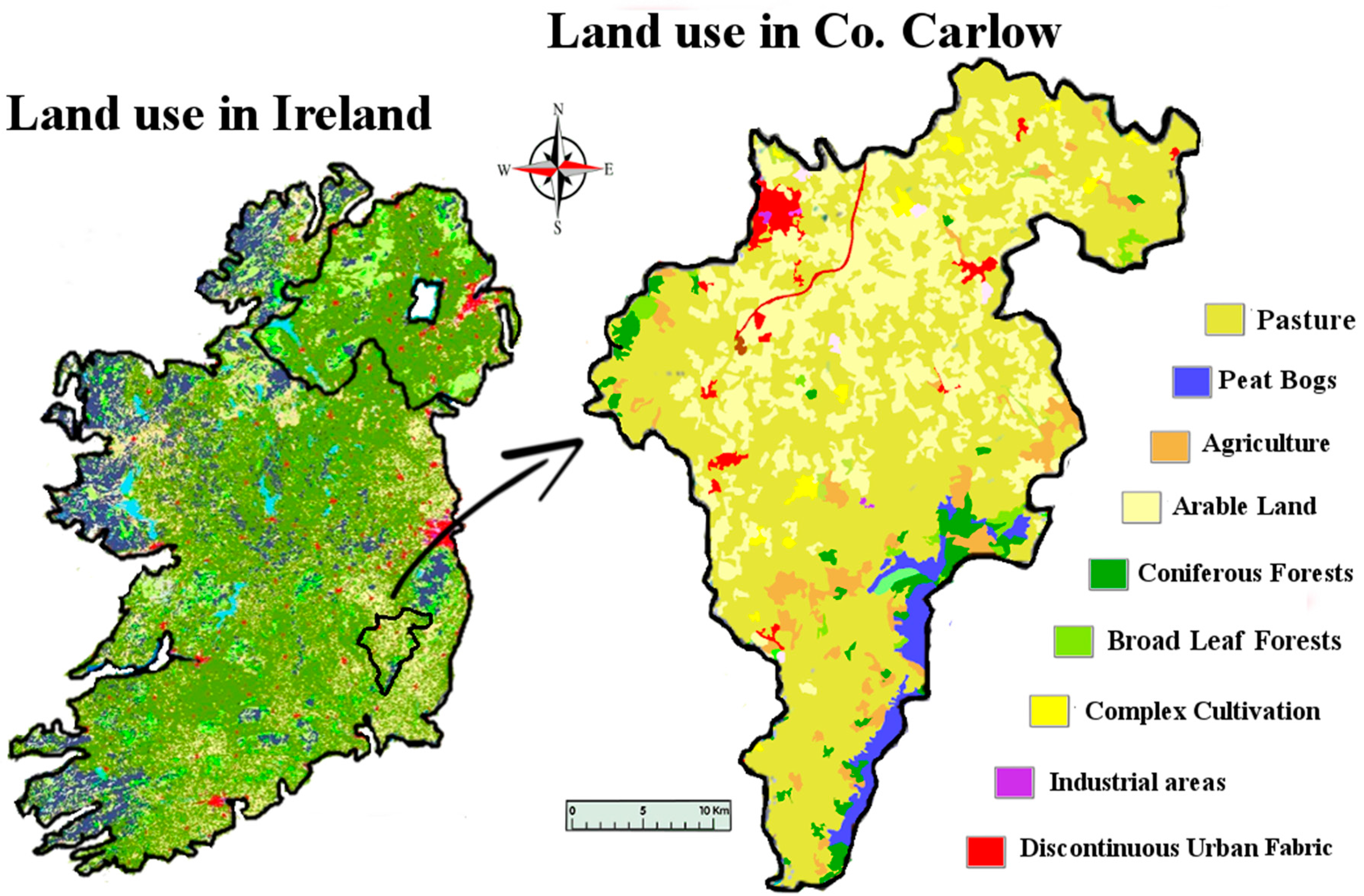 Carlow On Map Of Ireland.Ijerph Free Full Text Lithium In The Natural Waters Of The South